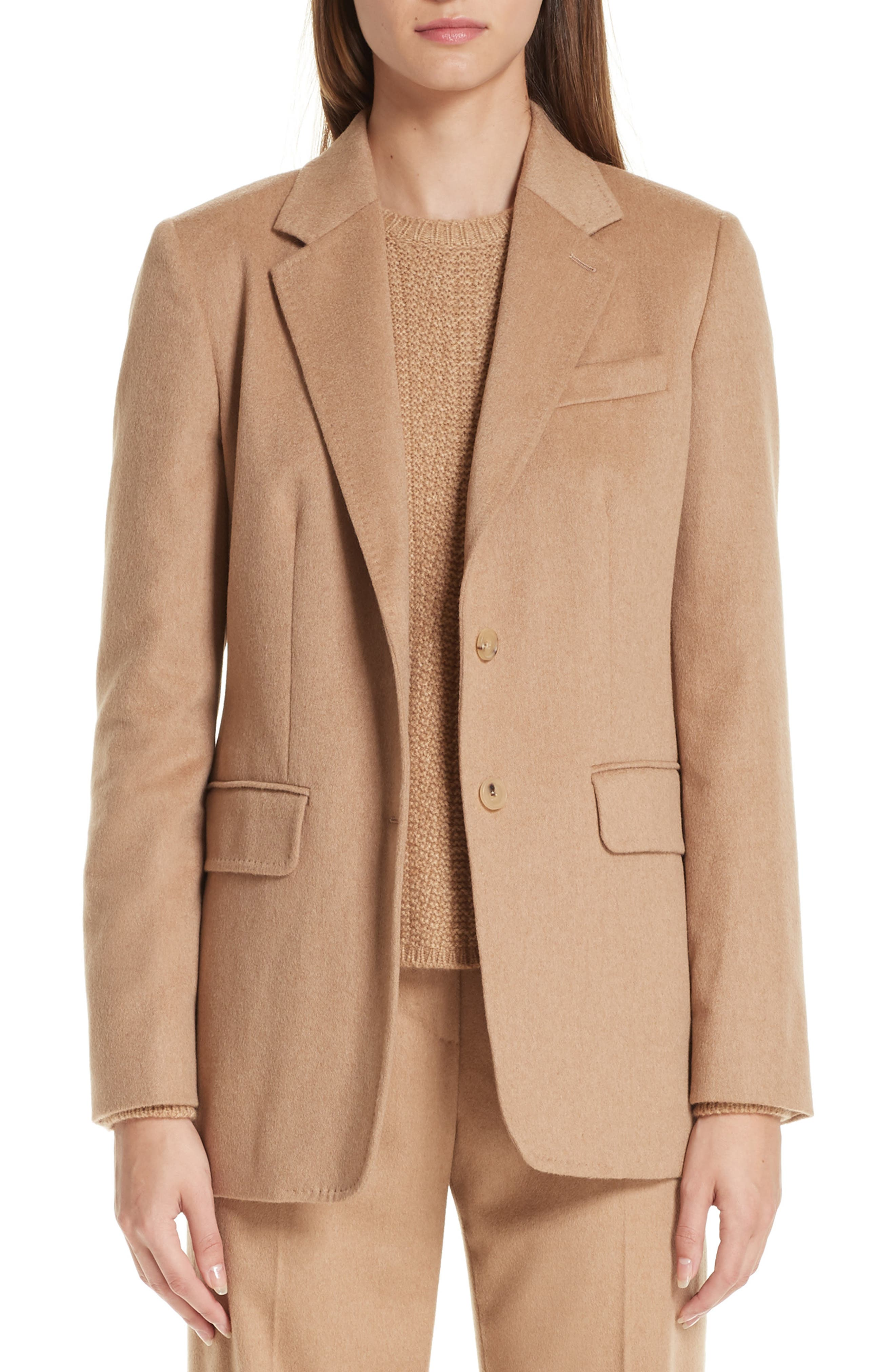 Panteon Camel Hair Jacket,                             Main thumbnail 1, color,                             232