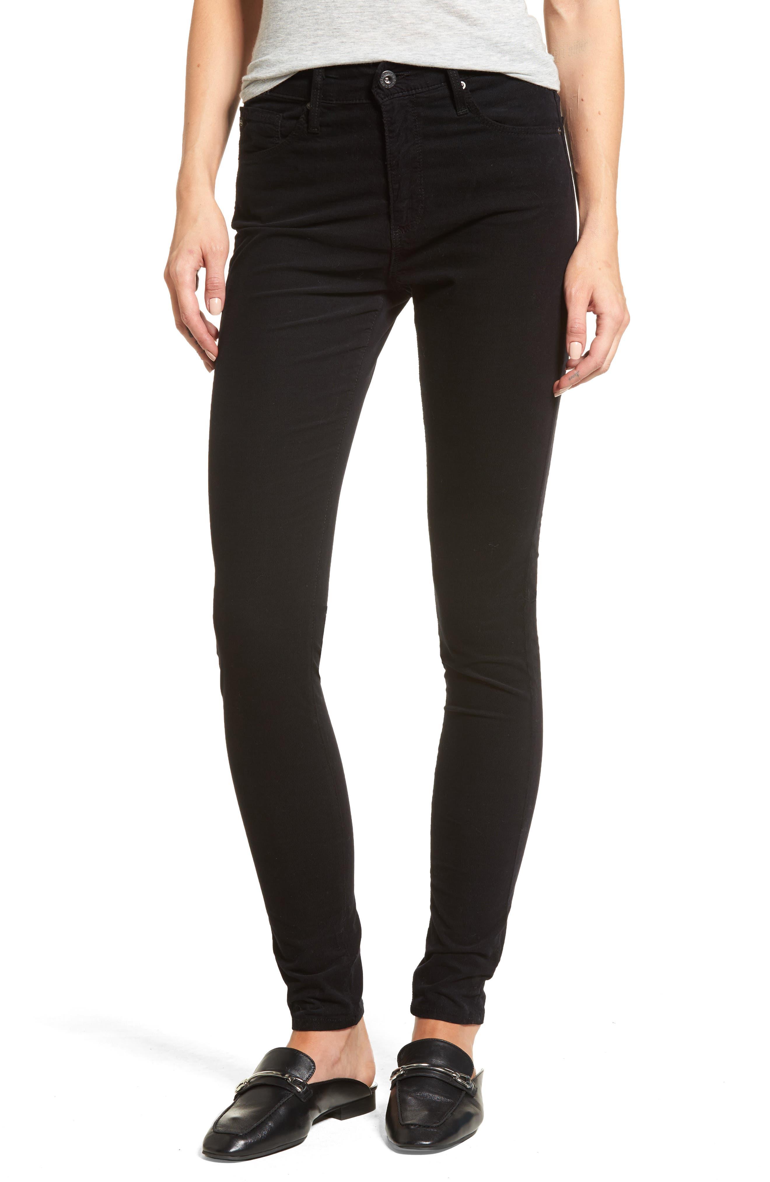 The Farrah High Waist Skinny Corduroy Pants,                         Main,                         color, 010