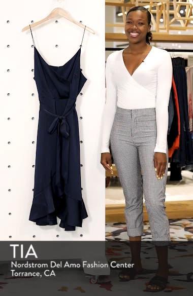 Marilyn Satin Faux Wrap Dress, sales video thumbnail