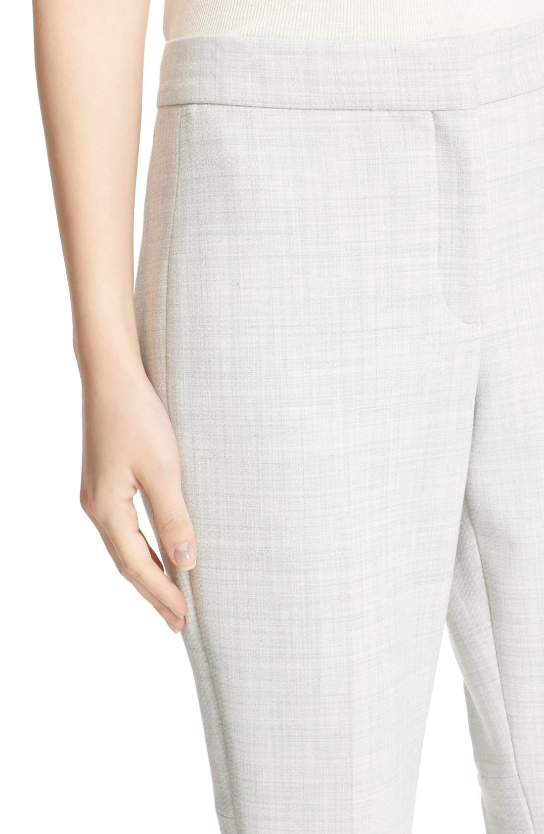 THEORY,                             'Erstina Pioneer' Crop Flare Leg Trousers,                             Alternate thumbnail 6, color,                             050