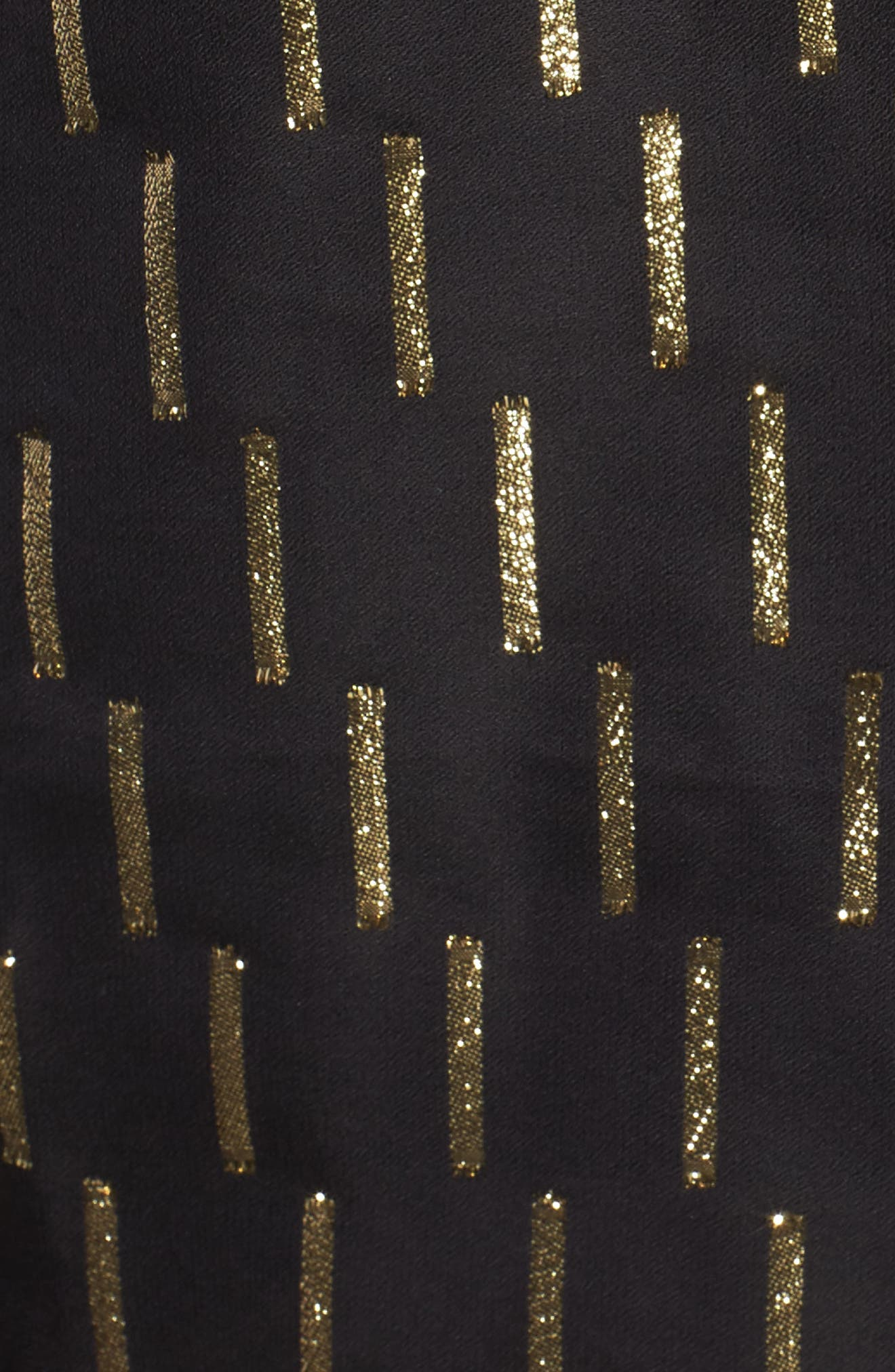 Metallic Stripe Choker Top,                             Alternate thumbnail 5, color,                             001