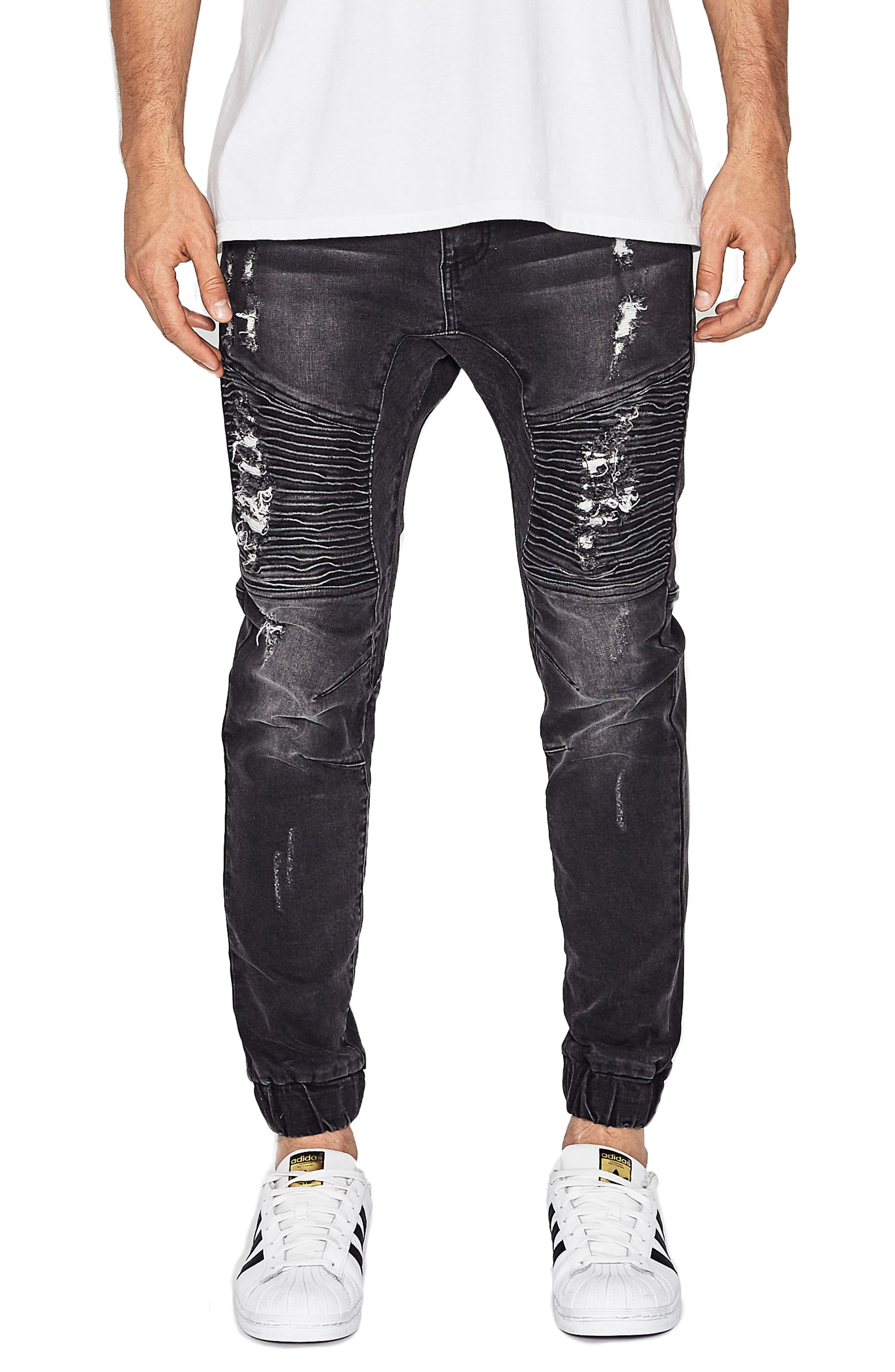 Destroyer Moto Denim Jogger Pants,                             Main thumbnail 1, color,                             014