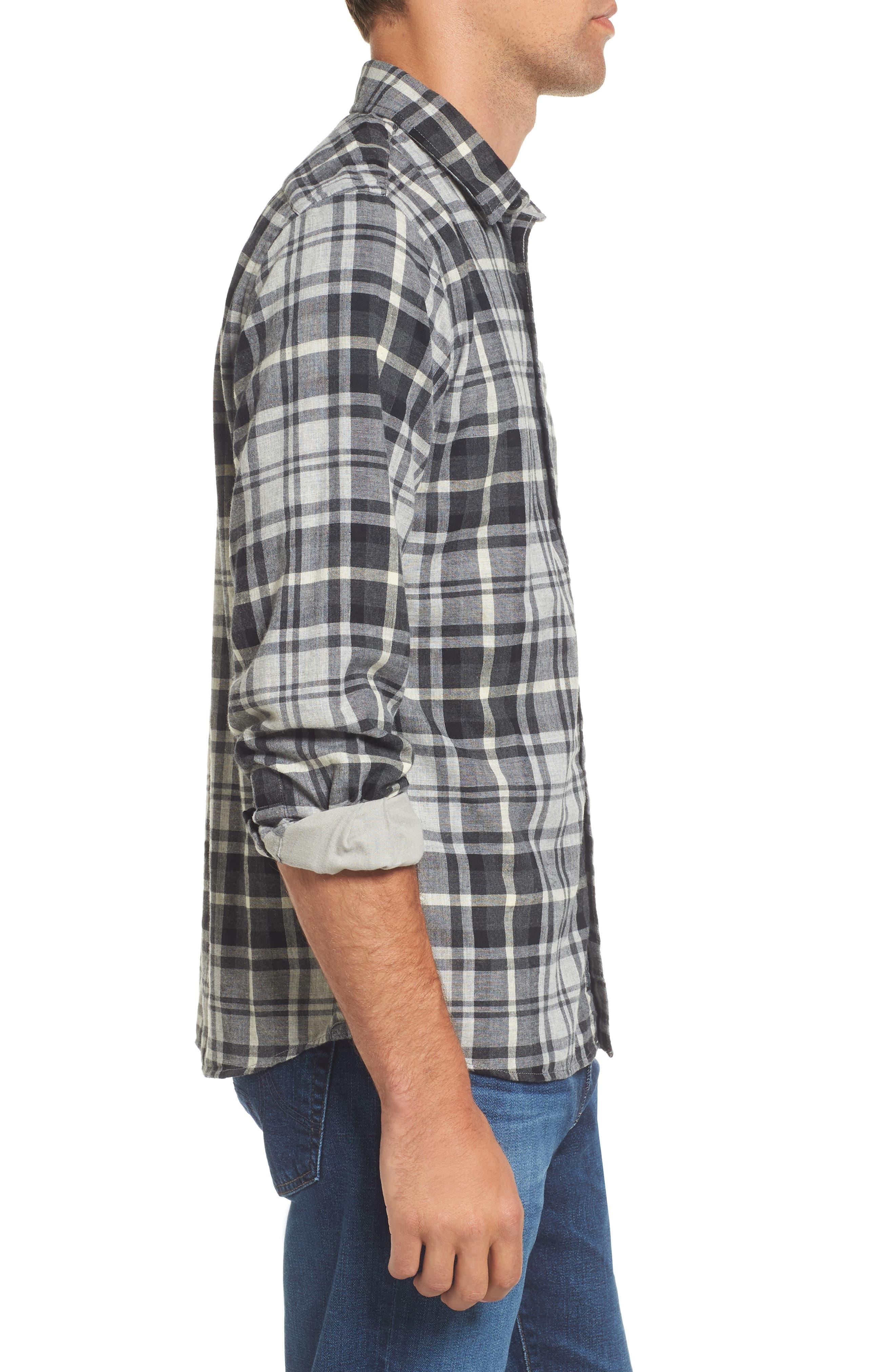 Heath Modern Fit Plaid Double Cloth Sport Shirt,                             Alternate thumbnail 3, color,                             062
