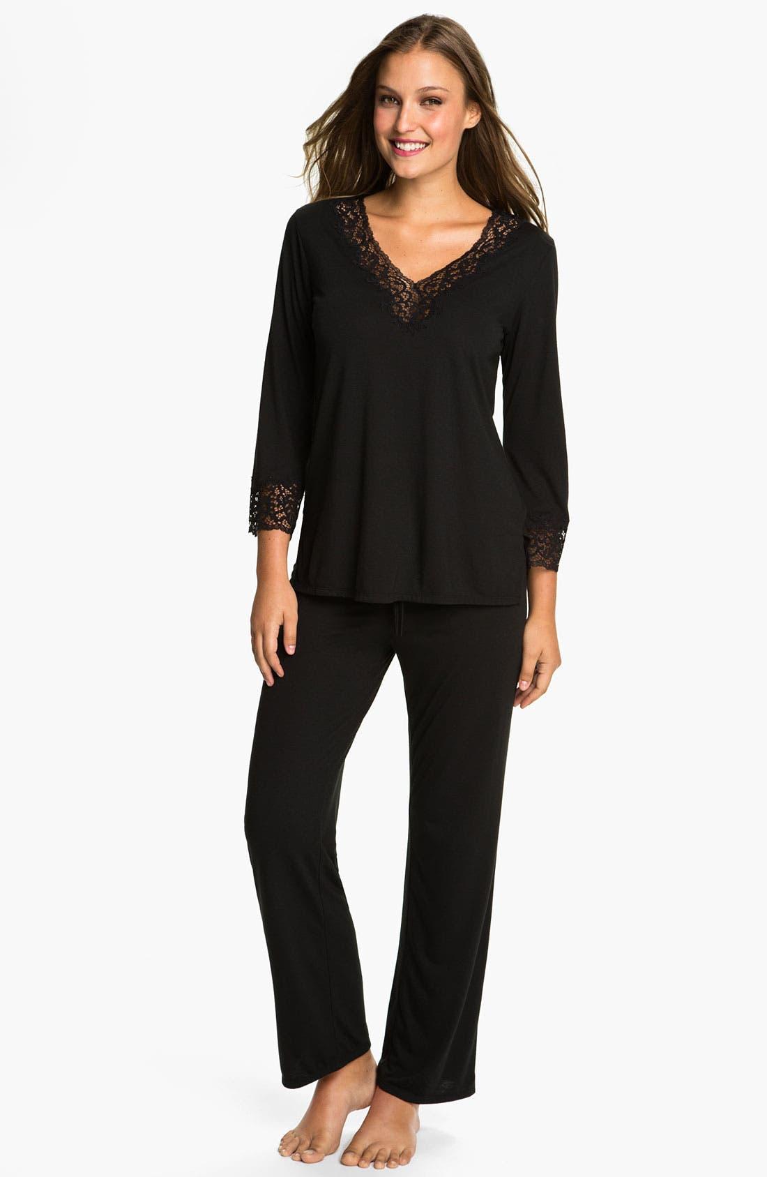 'Lhasa' Pajamas,                         Main,                         color, BLACK