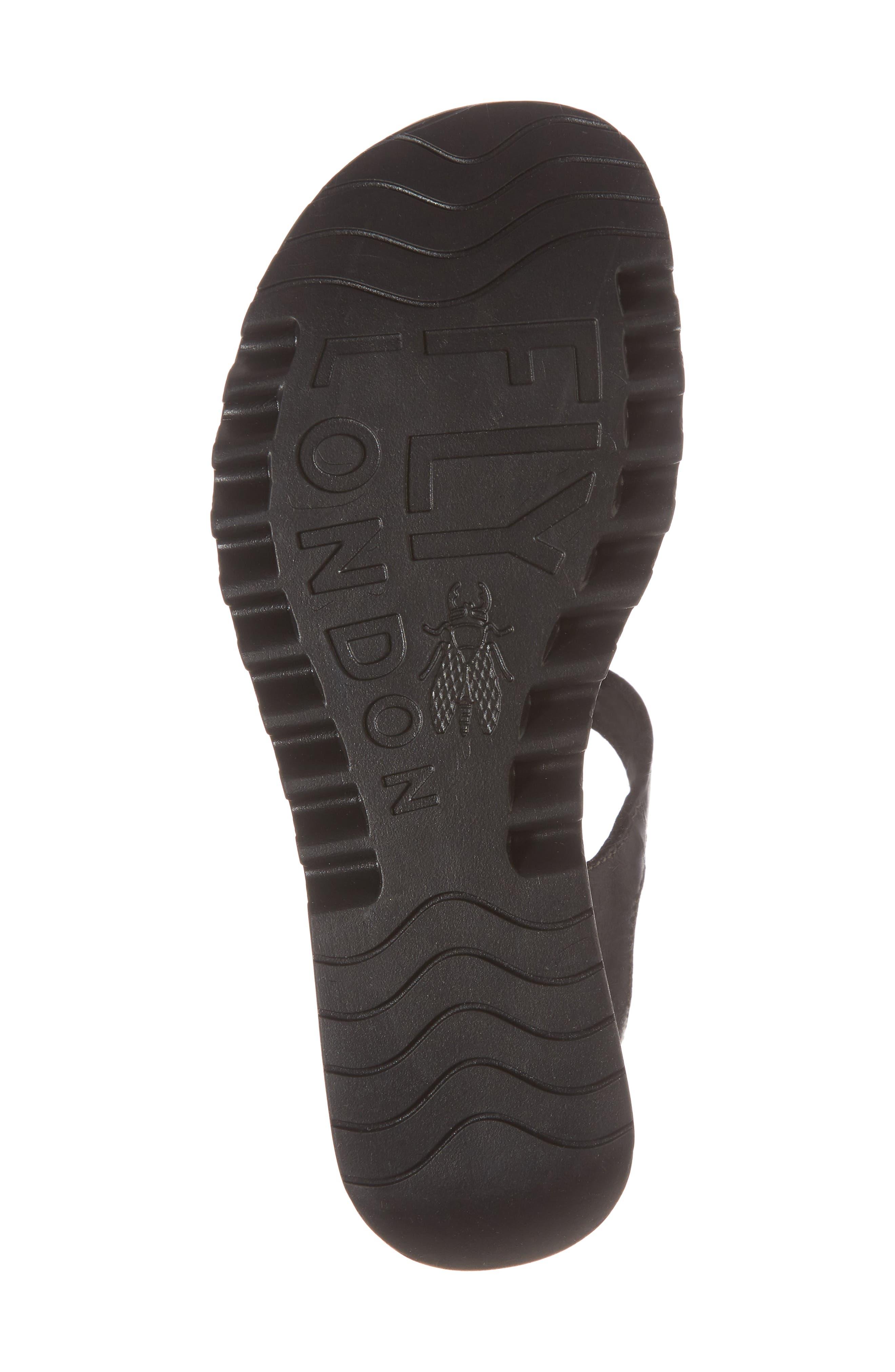 Egal Sandal,                             Alternate thumbnail 6, color,                             BLACK COLMAR LEATHER