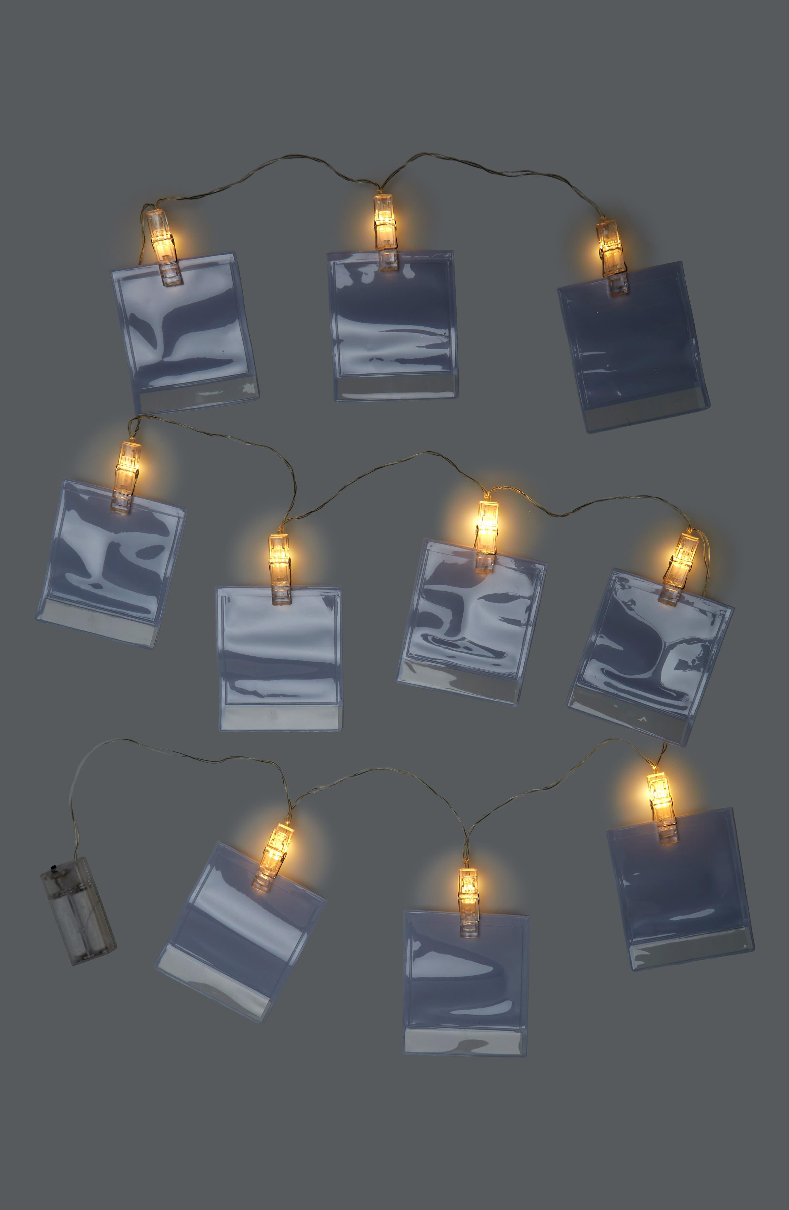 Photo LED String Lights,                             Alternate thumbnail 2, color,                             WHITE