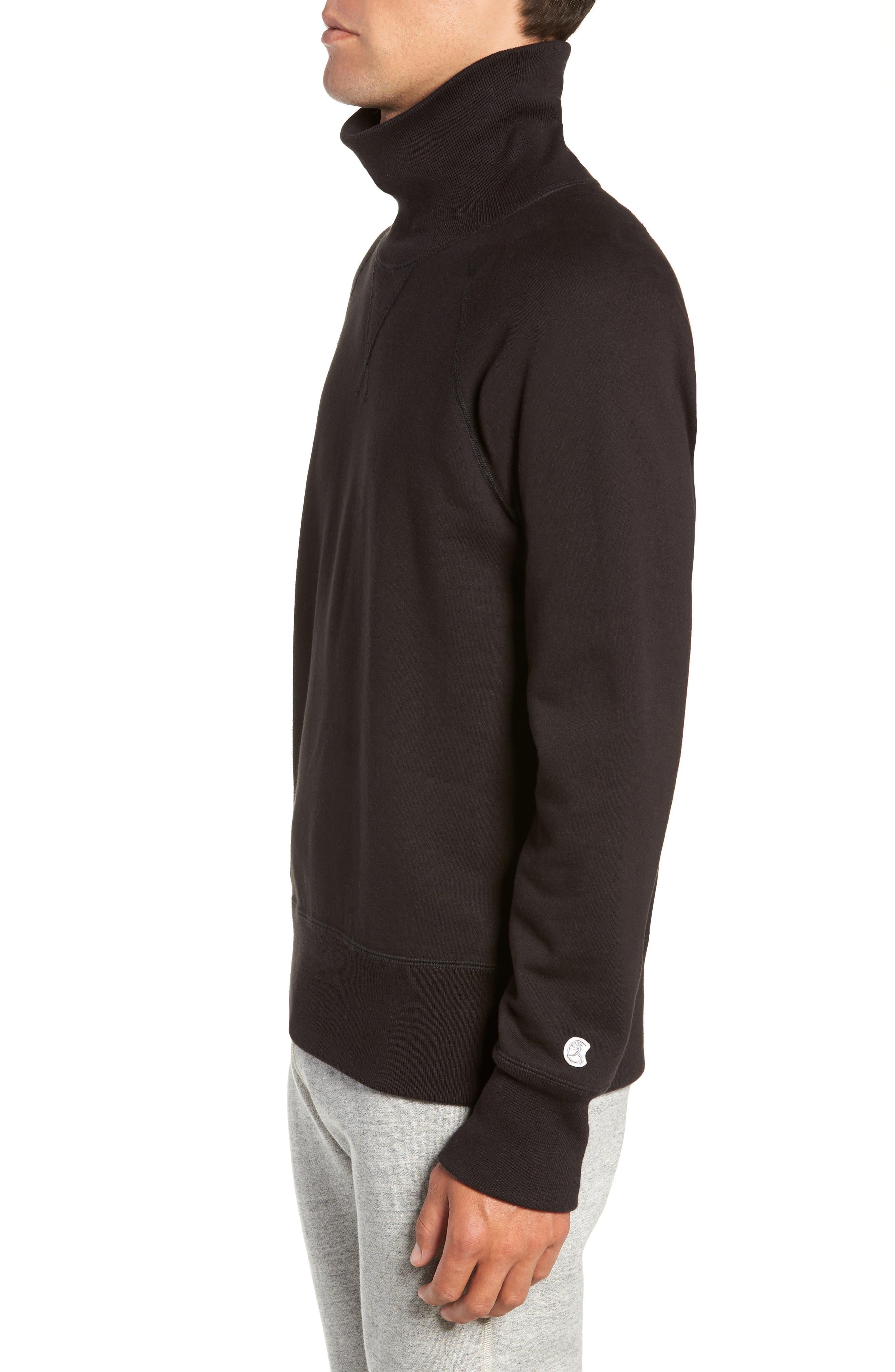 + Champion Turtleneck Sweatshirt,                             Alternate thumbnail 3, color,                             001