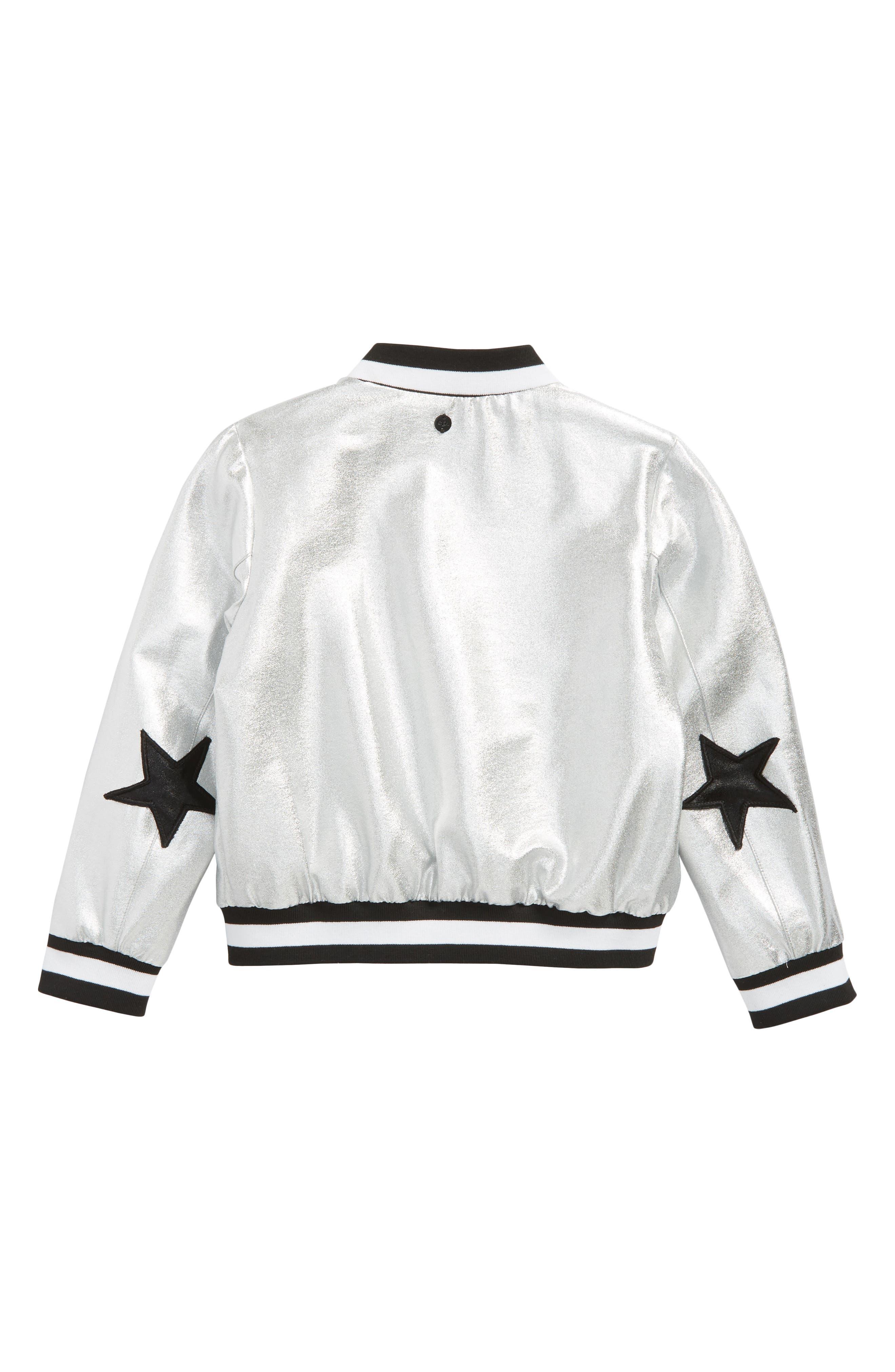 Aliver Star Bomber Jacket,                             Alternate thumbnail 2, color,                             040
