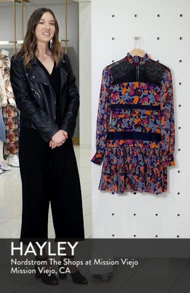 Dina Lace Inset Floral Print Dress, sales video thumbnail
