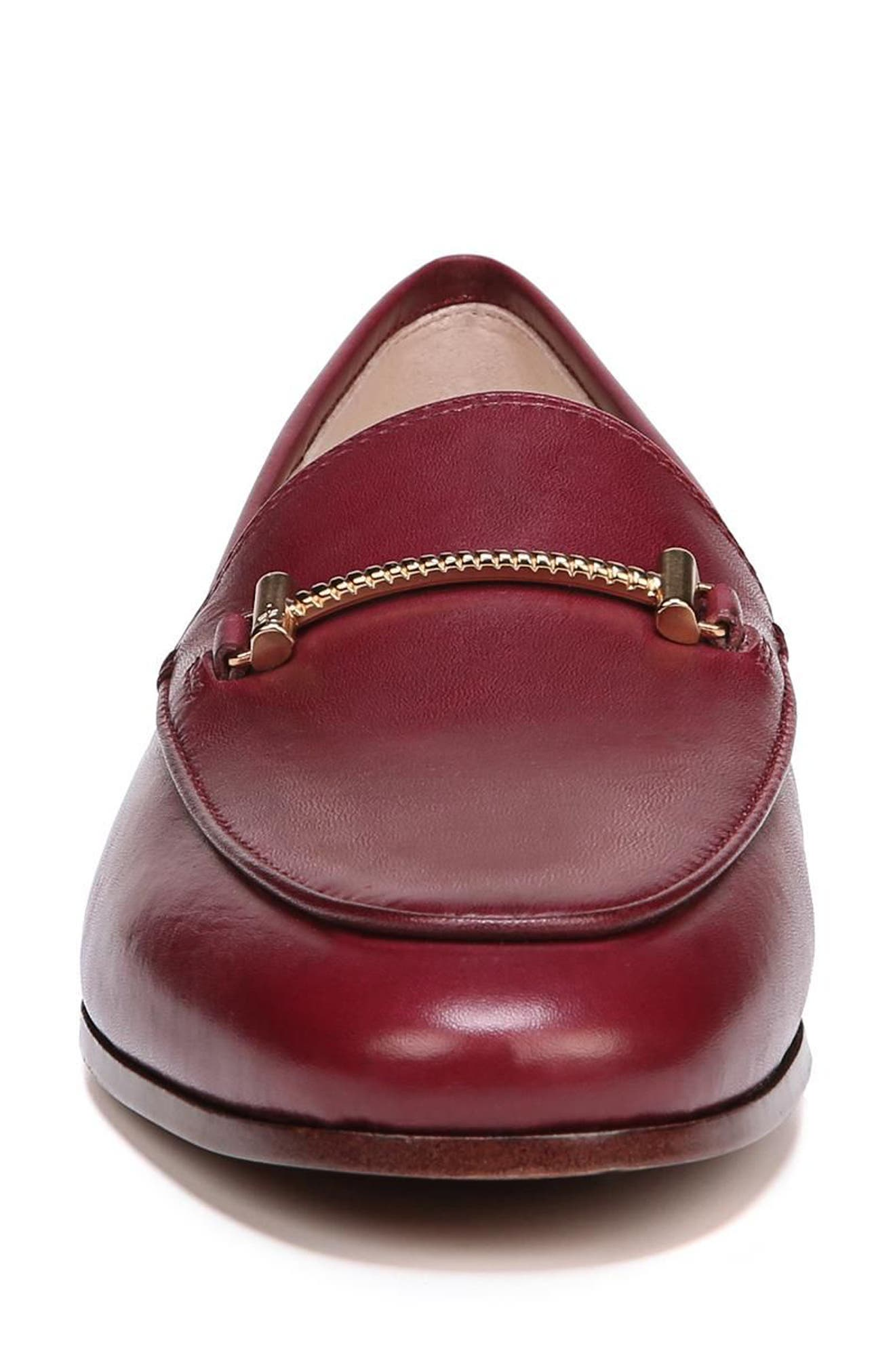Lior Loafer,                             Alternate thumbnail 4, color,                             BEET RED LEATHER