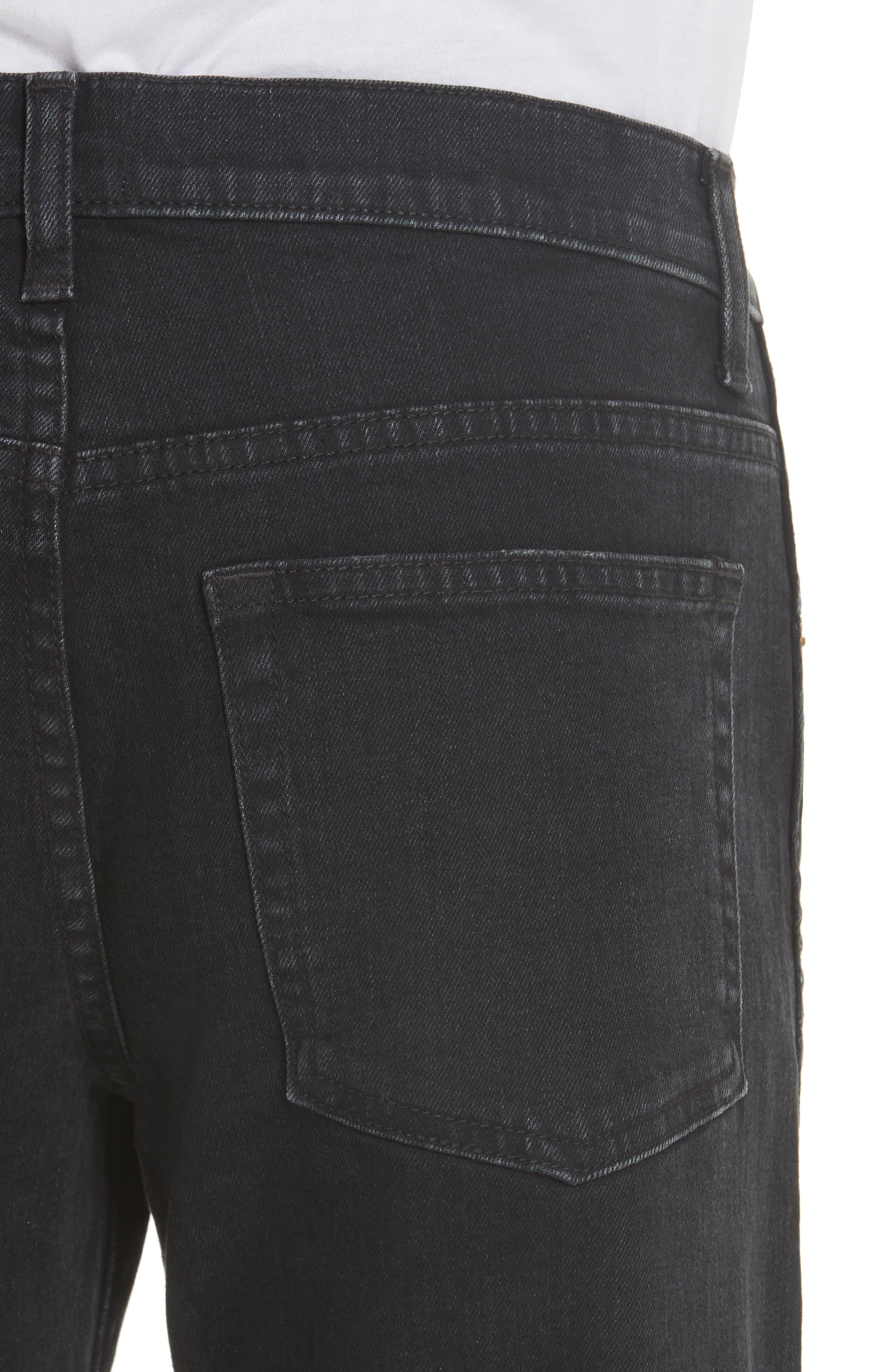 KHAITE,                             Wendell Wide Leg Crop Jeans,                             Alternate thumbnail 4, color,                             STONED BLACK