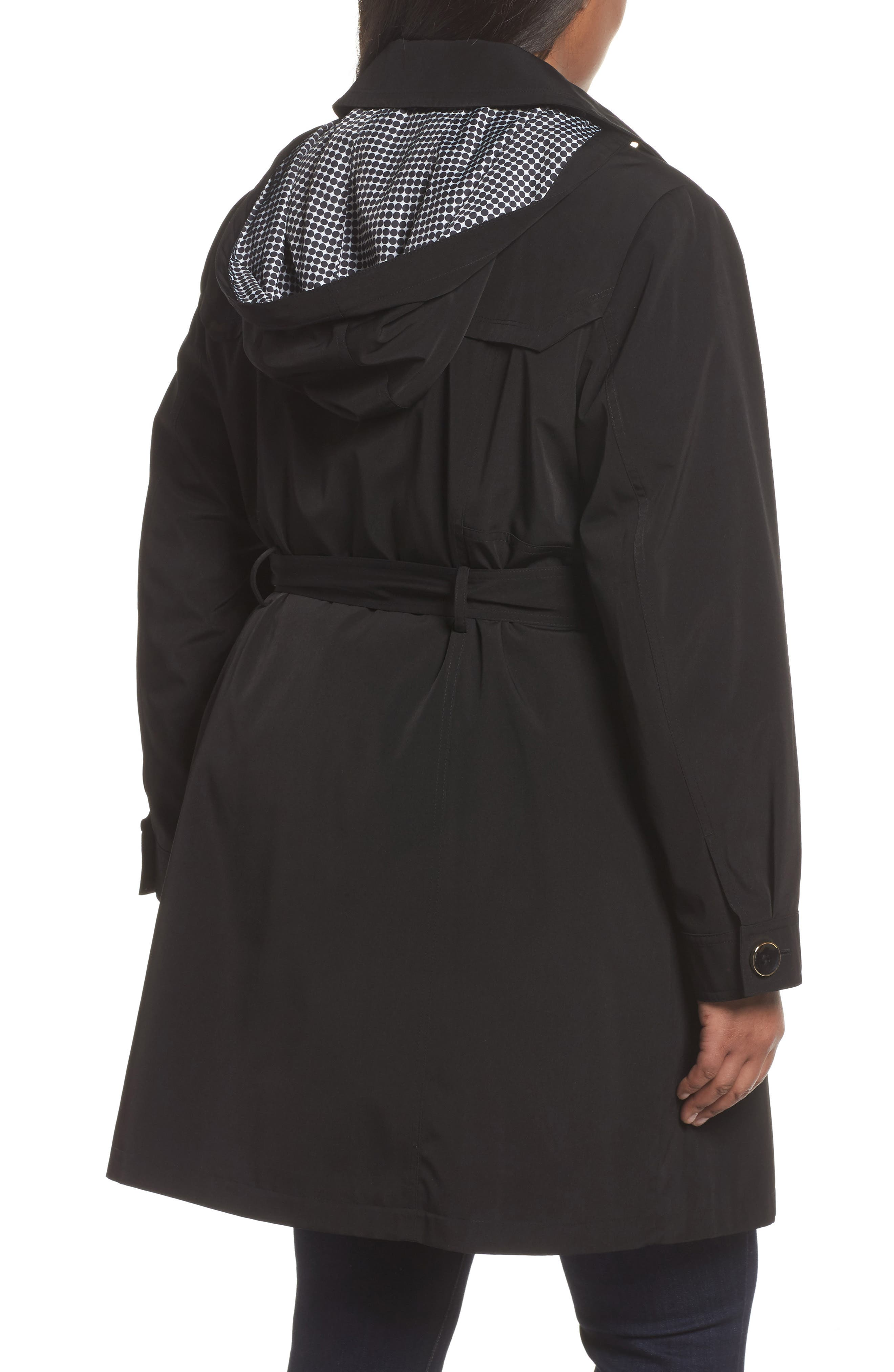 Belted Trench Raincoat,                             Alternate thumbnail 2, color,                             001