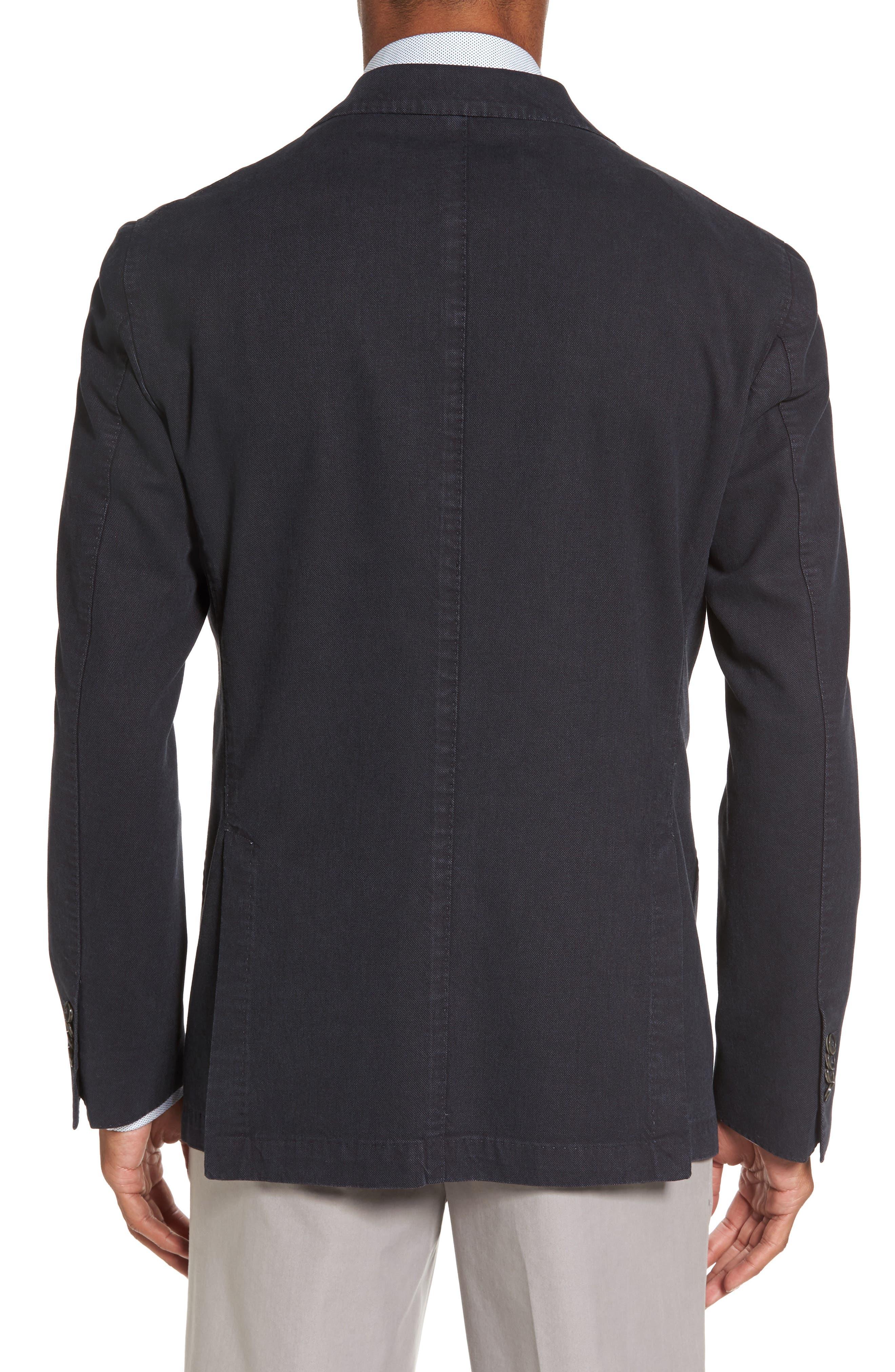 Classic Fit Cotton Blend Blazer,                             Alternate thumbnail 2, color,                             001