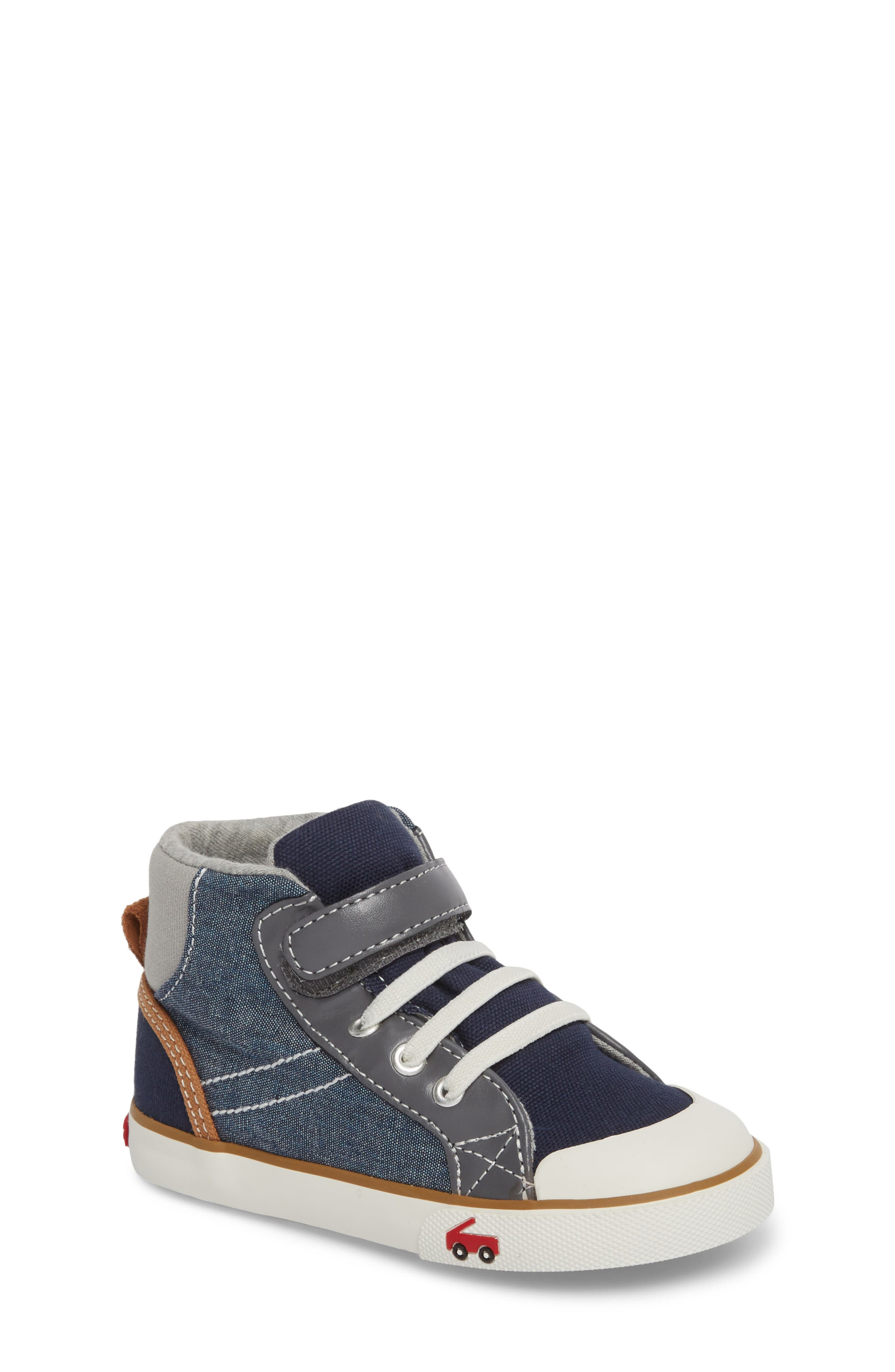 Dane Sneaker,                         Main,                         color, CHAMBRAY MULTI