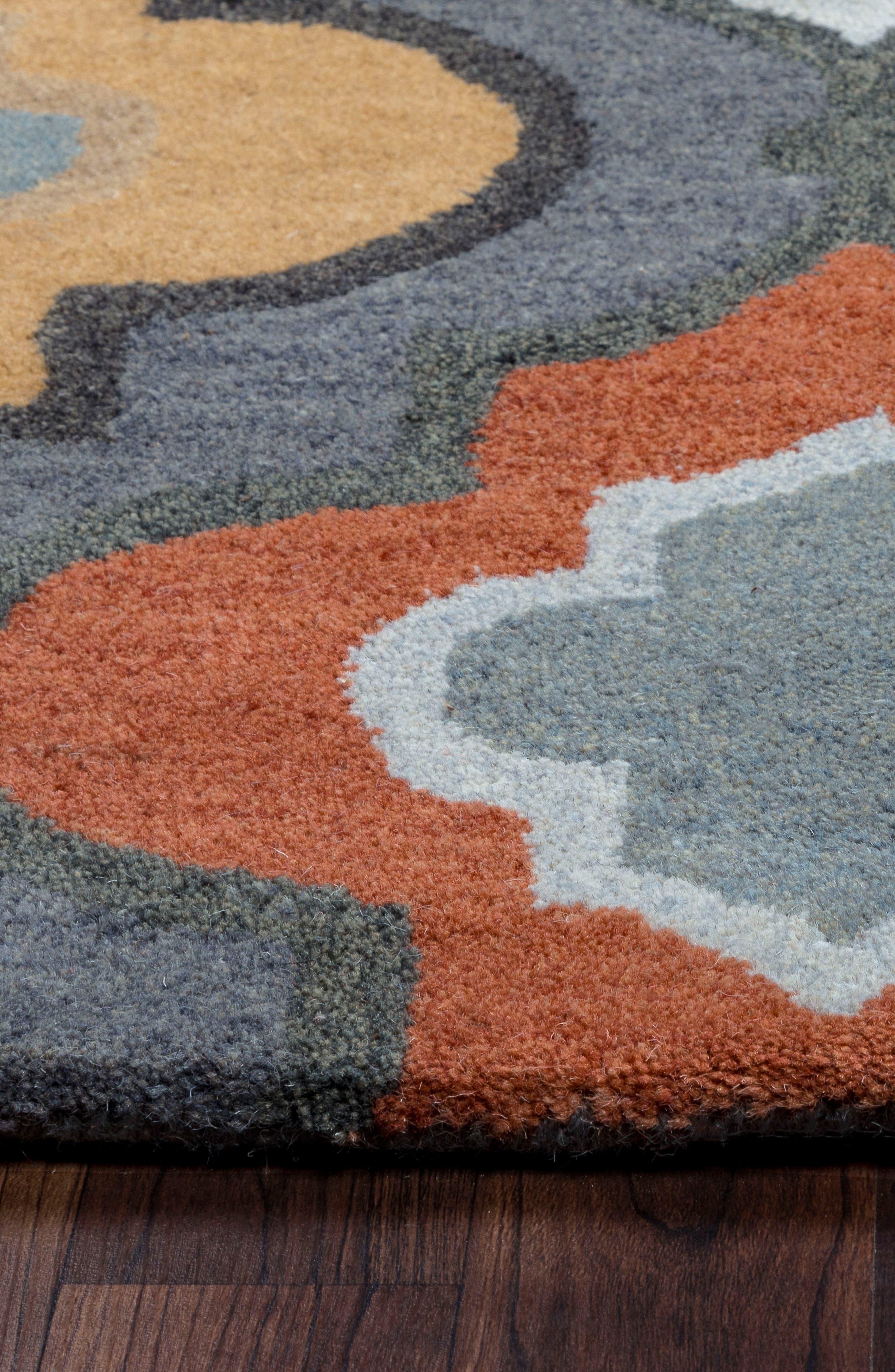 'Quatrefoil' Hand Tufted Wool Area Rug,                             Alternate thumbnail 4, color,                             030