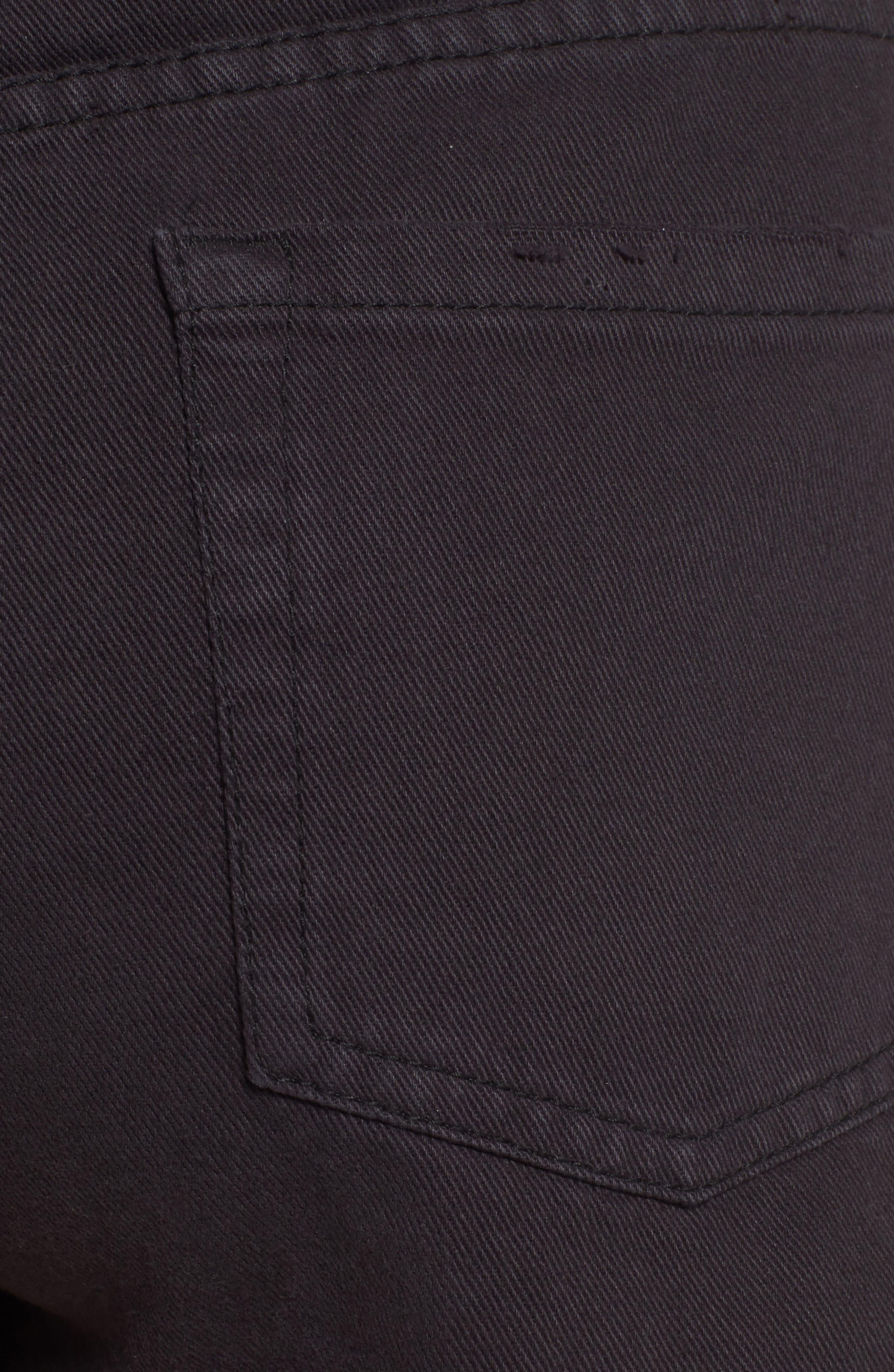 Shoreline Fray Hem Denim Shorts,                             Alternate thumbnail 6, color,                             001