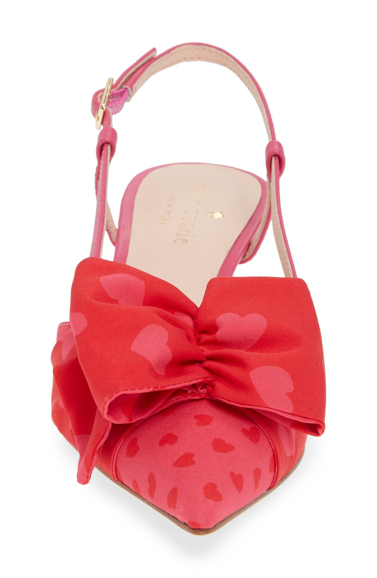 daxton slingback pump,                             Alternate thumbnail 4, color,                             BEGONIA/ ENGINE RED HEART