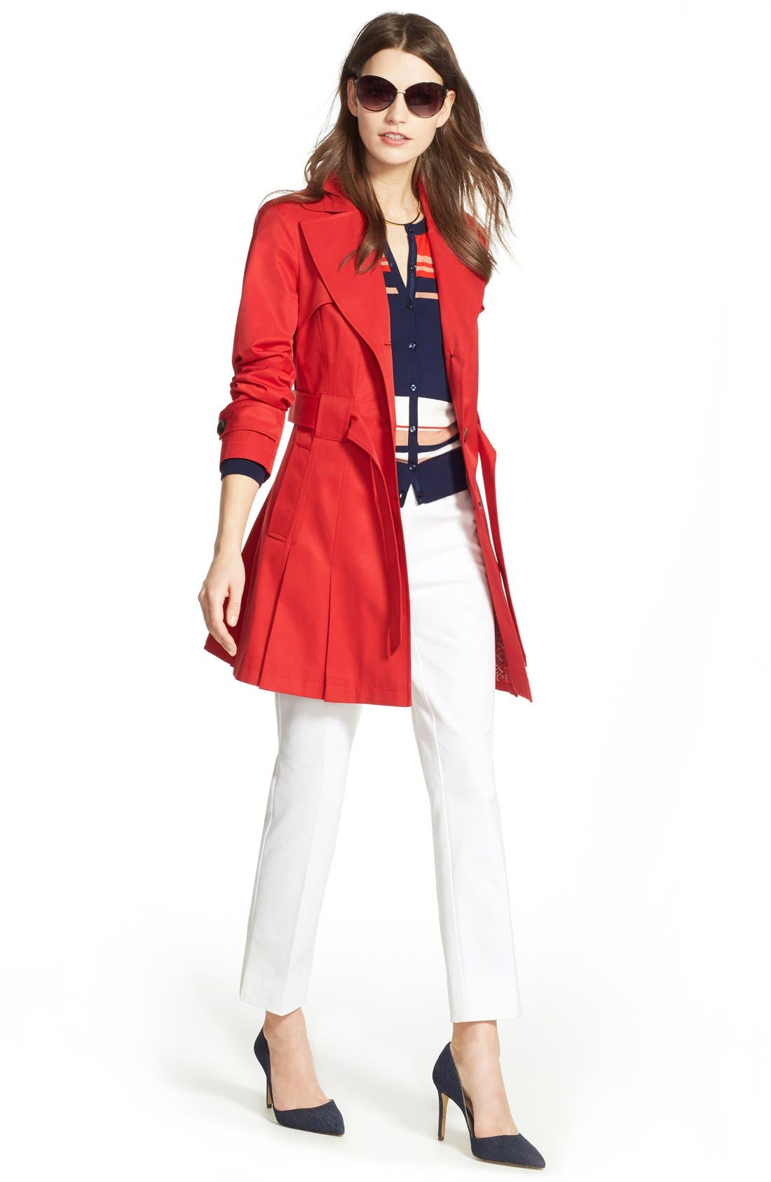 'Scarpa' Hooded Single Breasted Trench Coat,                             Alternate thumbnail 44, color,