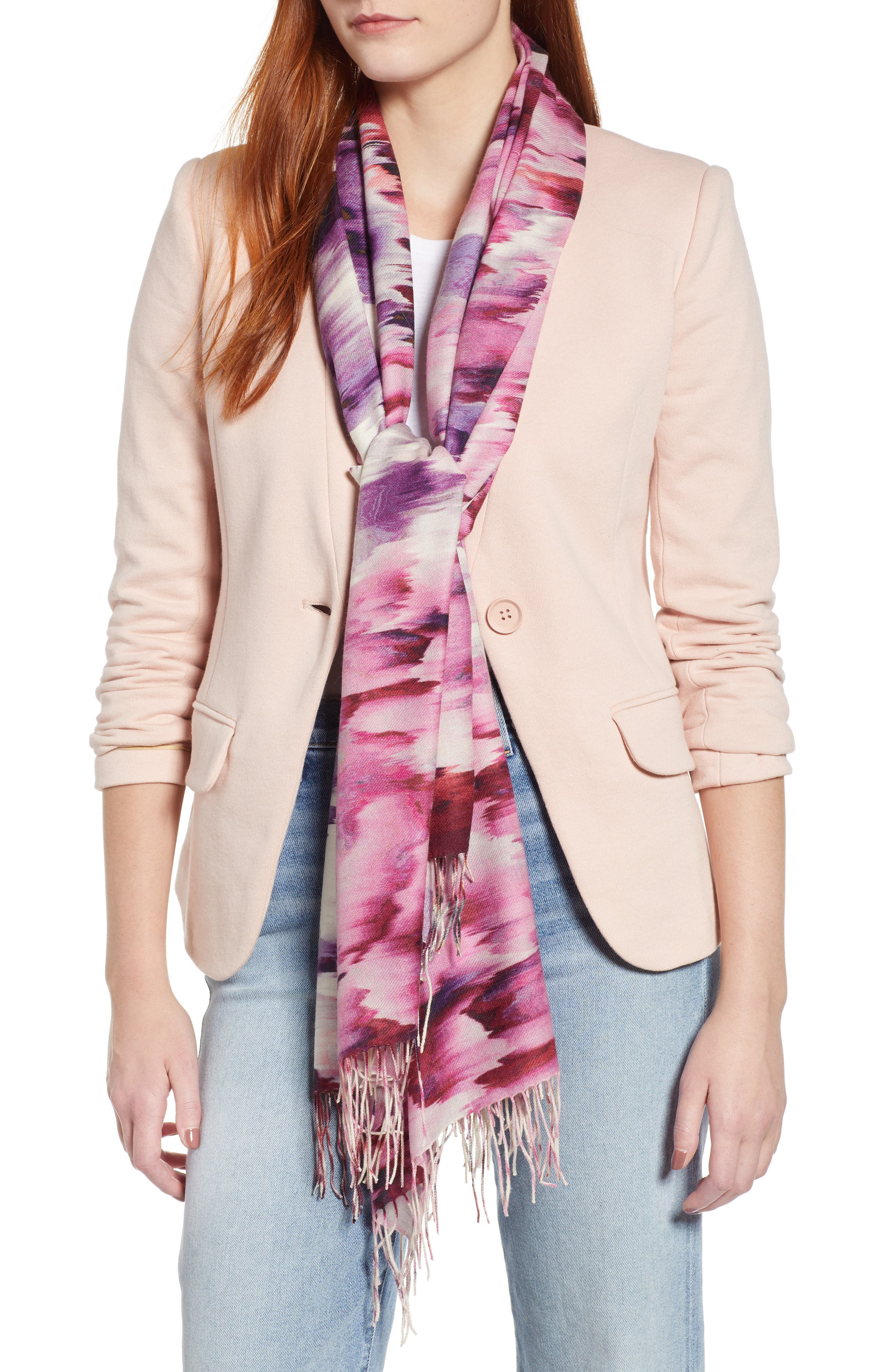 Tissue Print Wool & Cashmere Wrap Scarf,                             Main thumbnail 26, color,