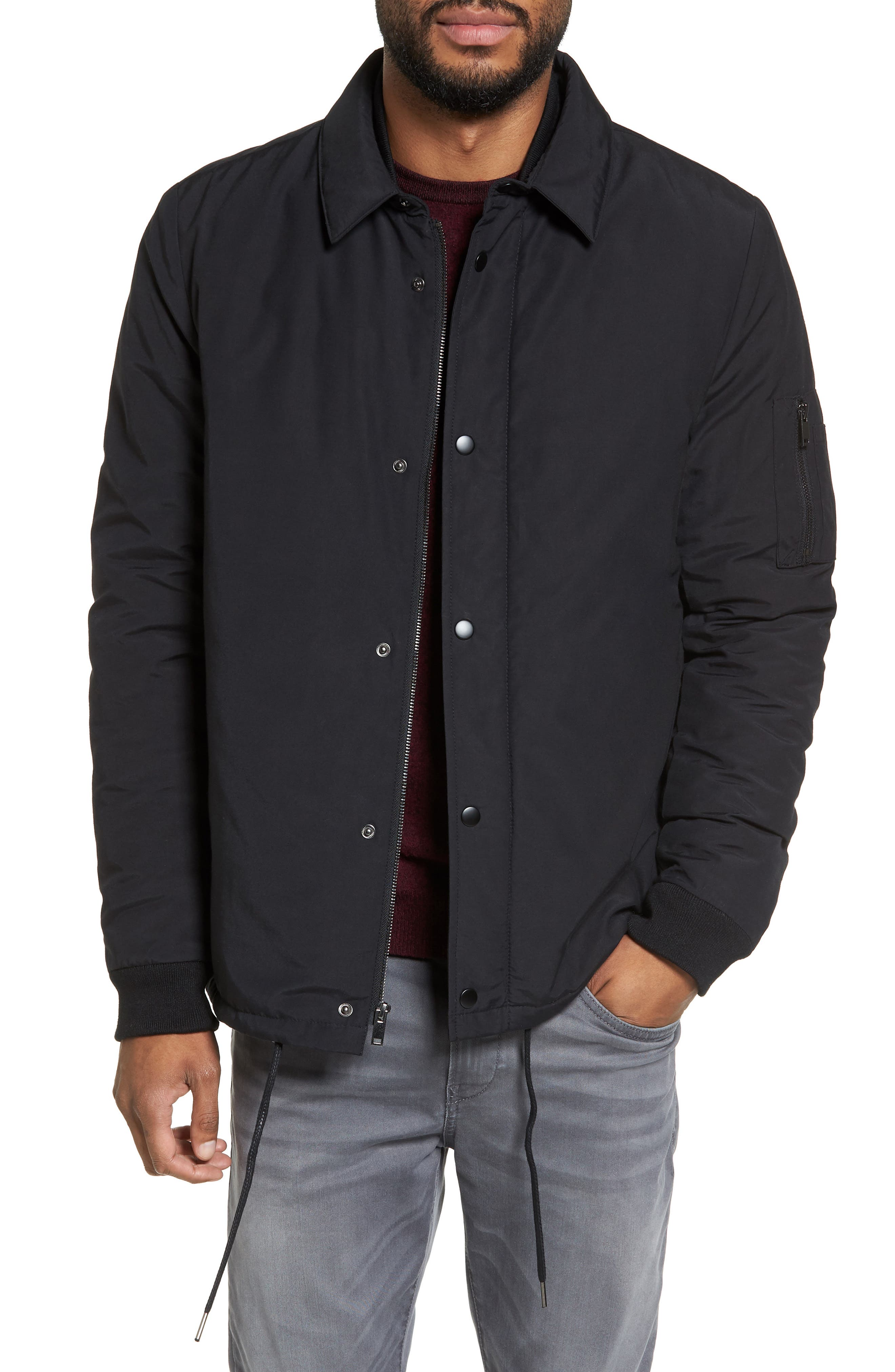 Collared Bomber Jacket,                         Main,                         color, 001