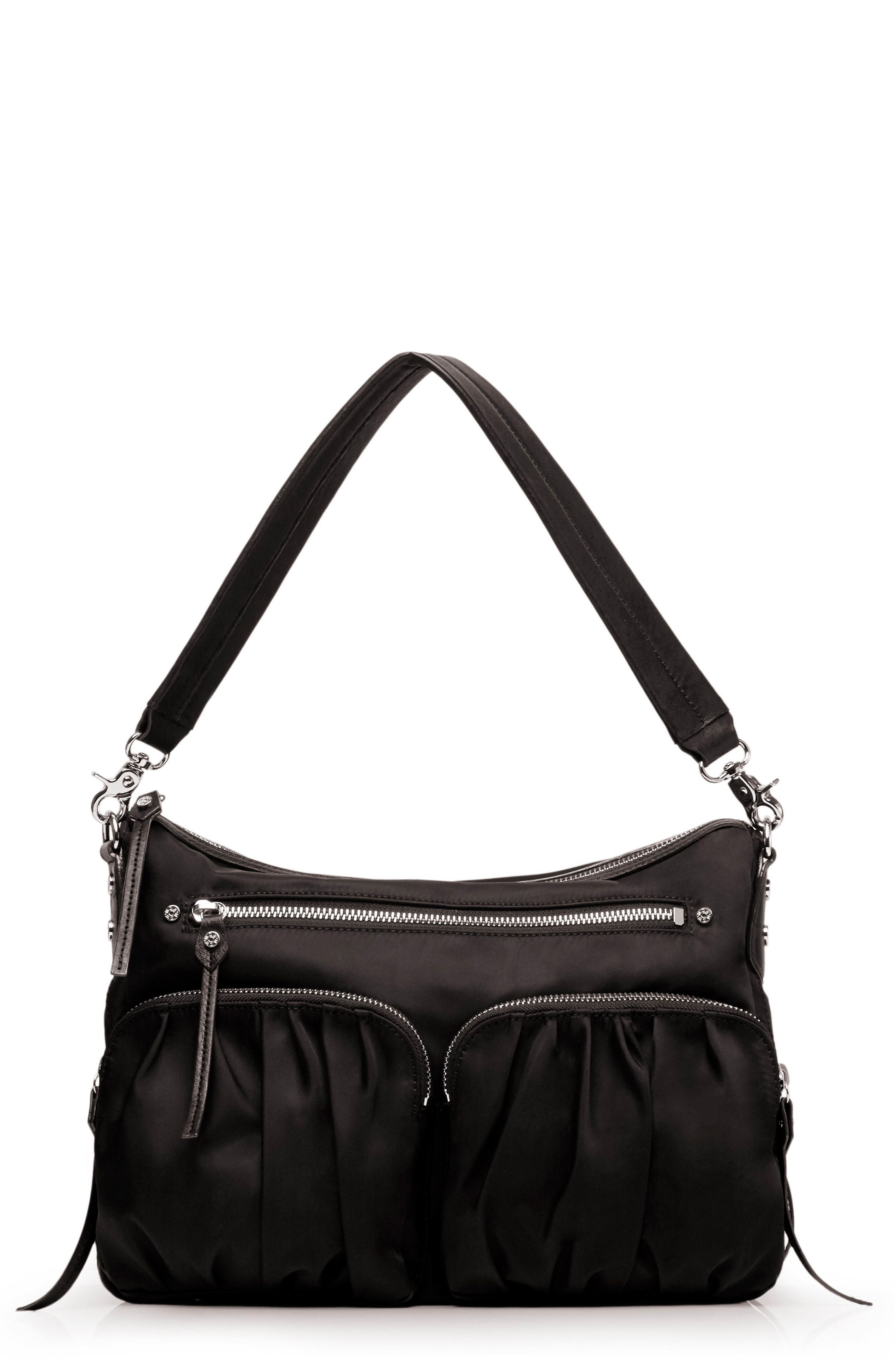 'Hayley' Bedford Nylon Handbag, Main, color, 001