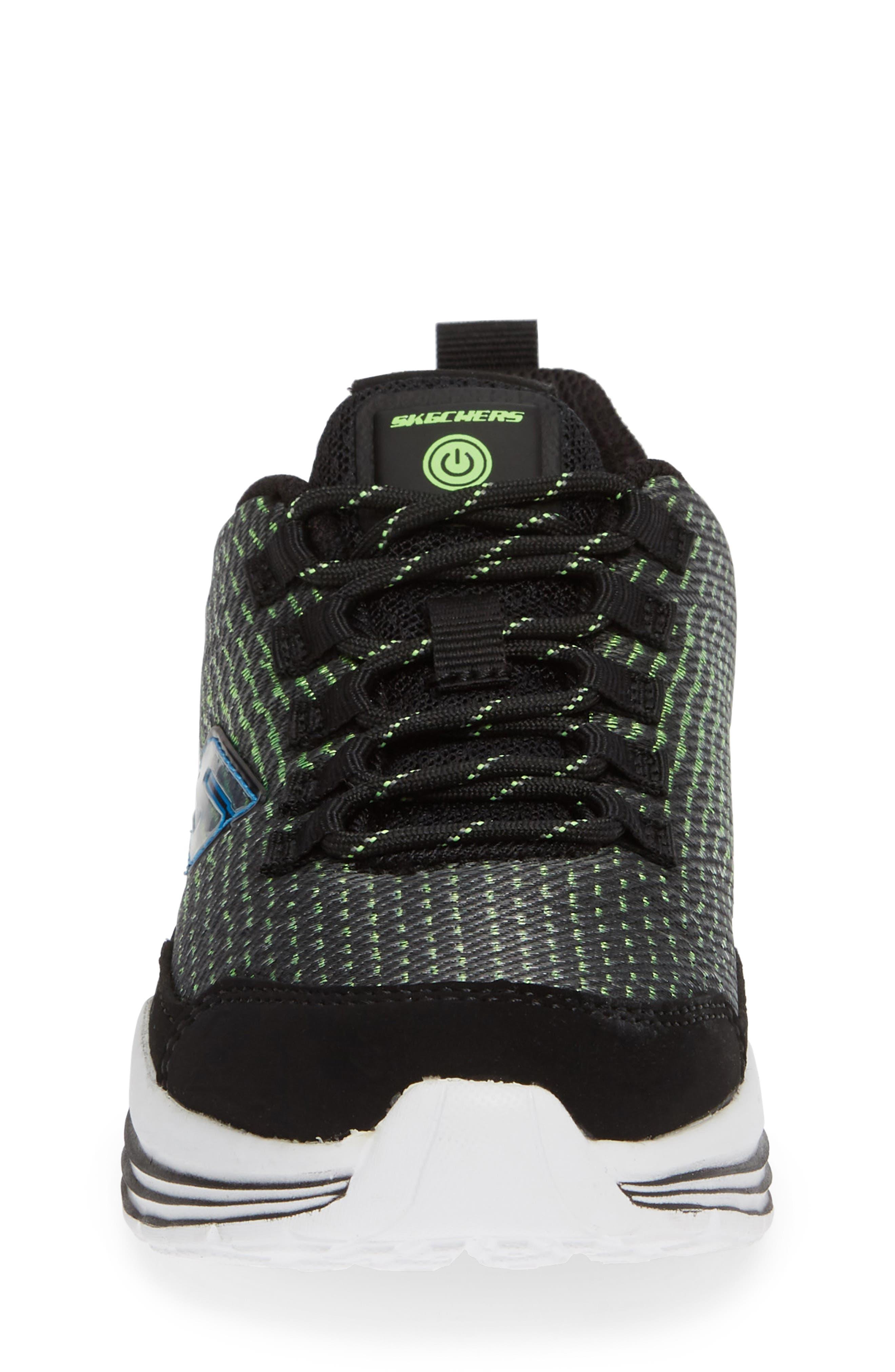 Luminators Sneaker,                             Alternate thumbnail 4, color,                             BLACK/ LIME