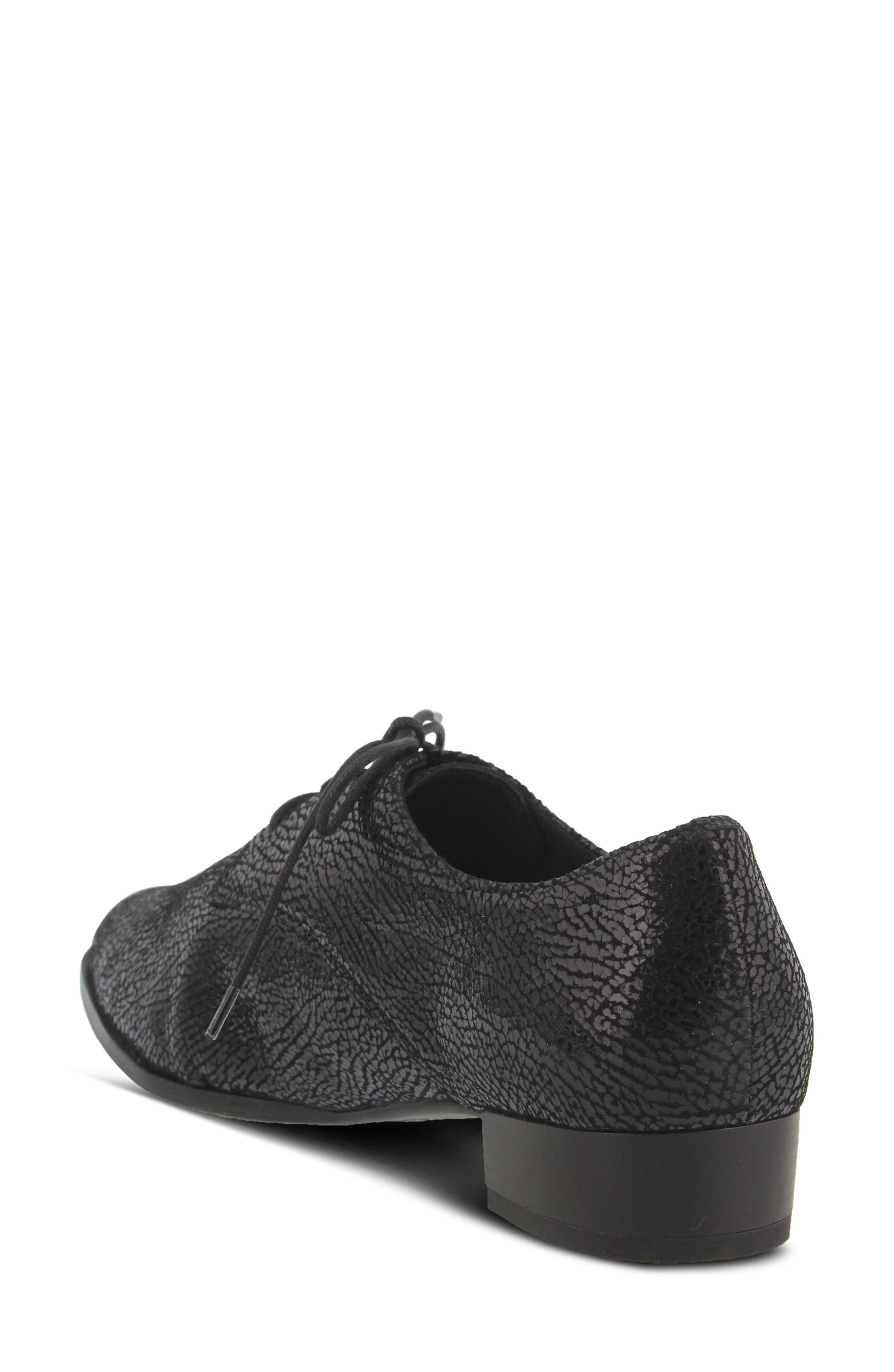 Conchetta Lace-Up Derby,                             Alternate thumbnail 2, color,                             BLACK LEATHER