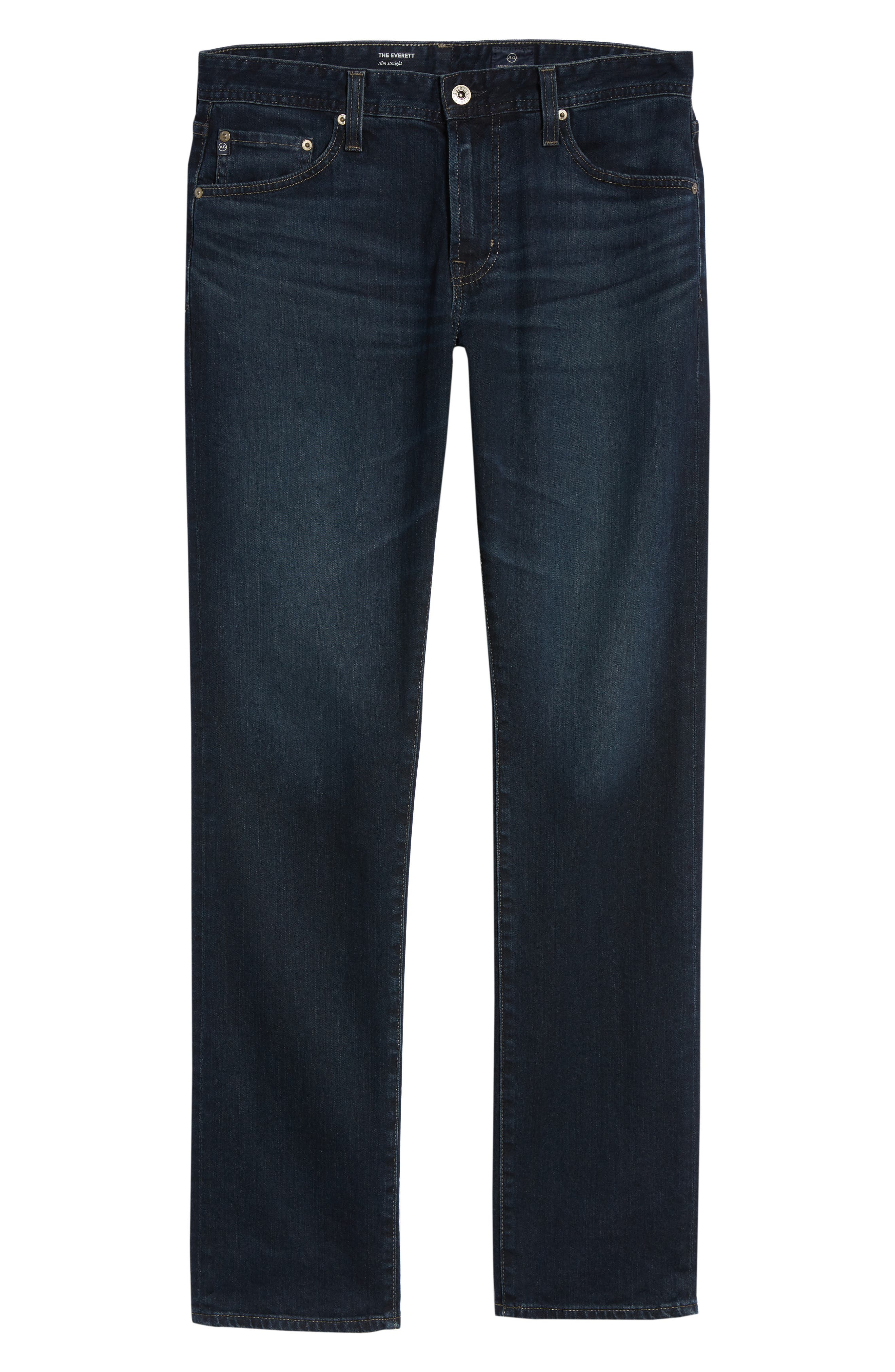Everett Slim Straight Fit Jeans,                             Alternate thumbnail 6, color,                             SHADOW MOUNTAIN