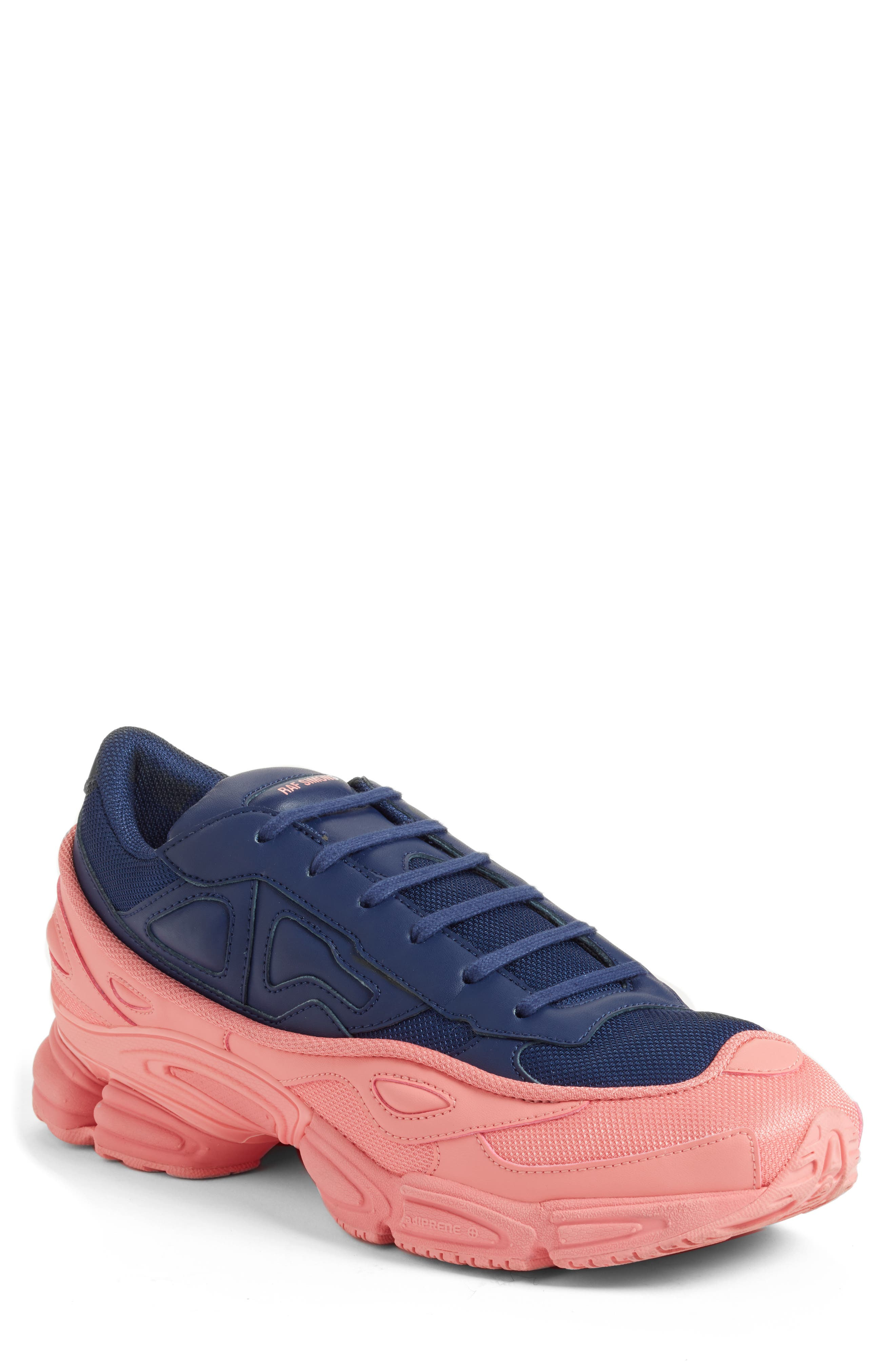 adidas by Raf Simons Ozweego III Sneaker,                             Main thumbnail 1, color,                             TACTILE ROSE/ DARK BLUE