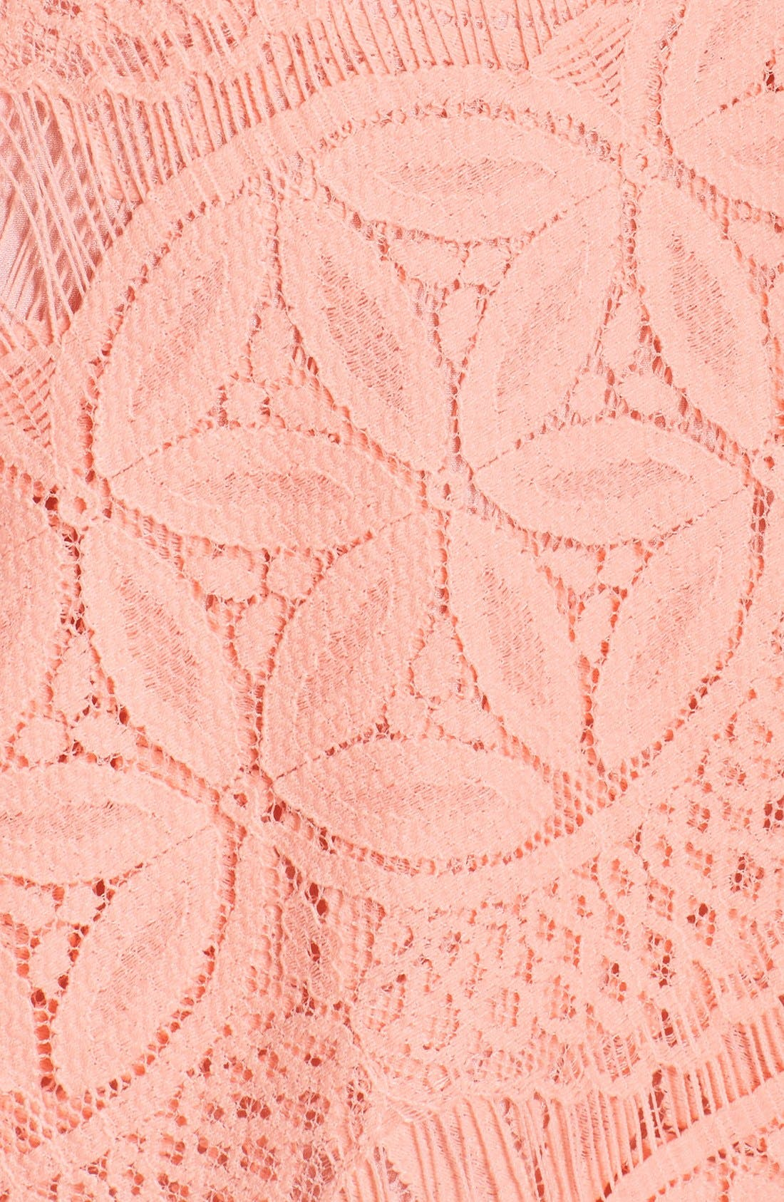 Lace High/Low Sheath Dress,                             Alternate thumbnail 42, color,