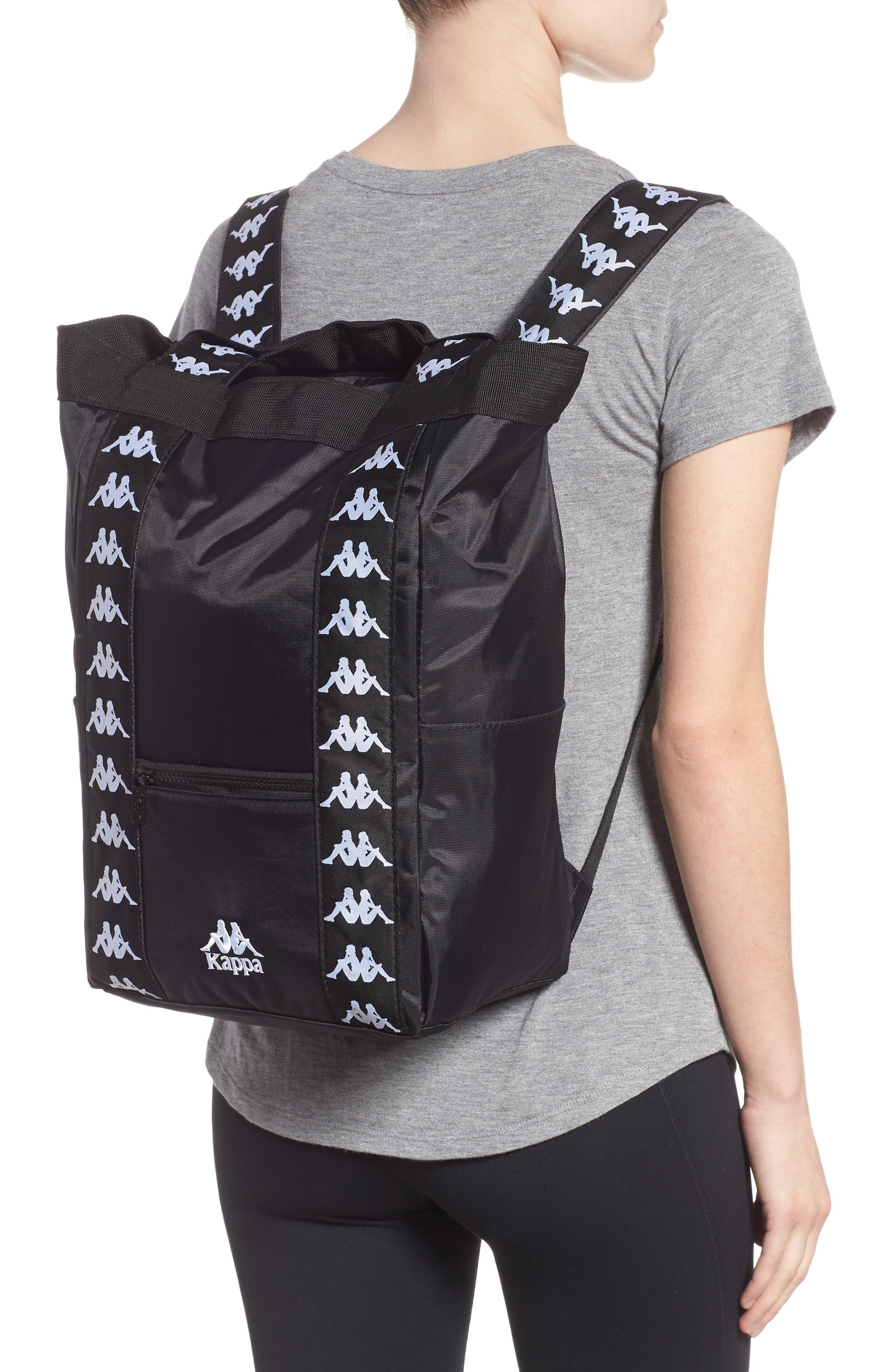Medium Athletic Backpack,                             Alternate thumbnail 2, color,                             BLACK-WHITE