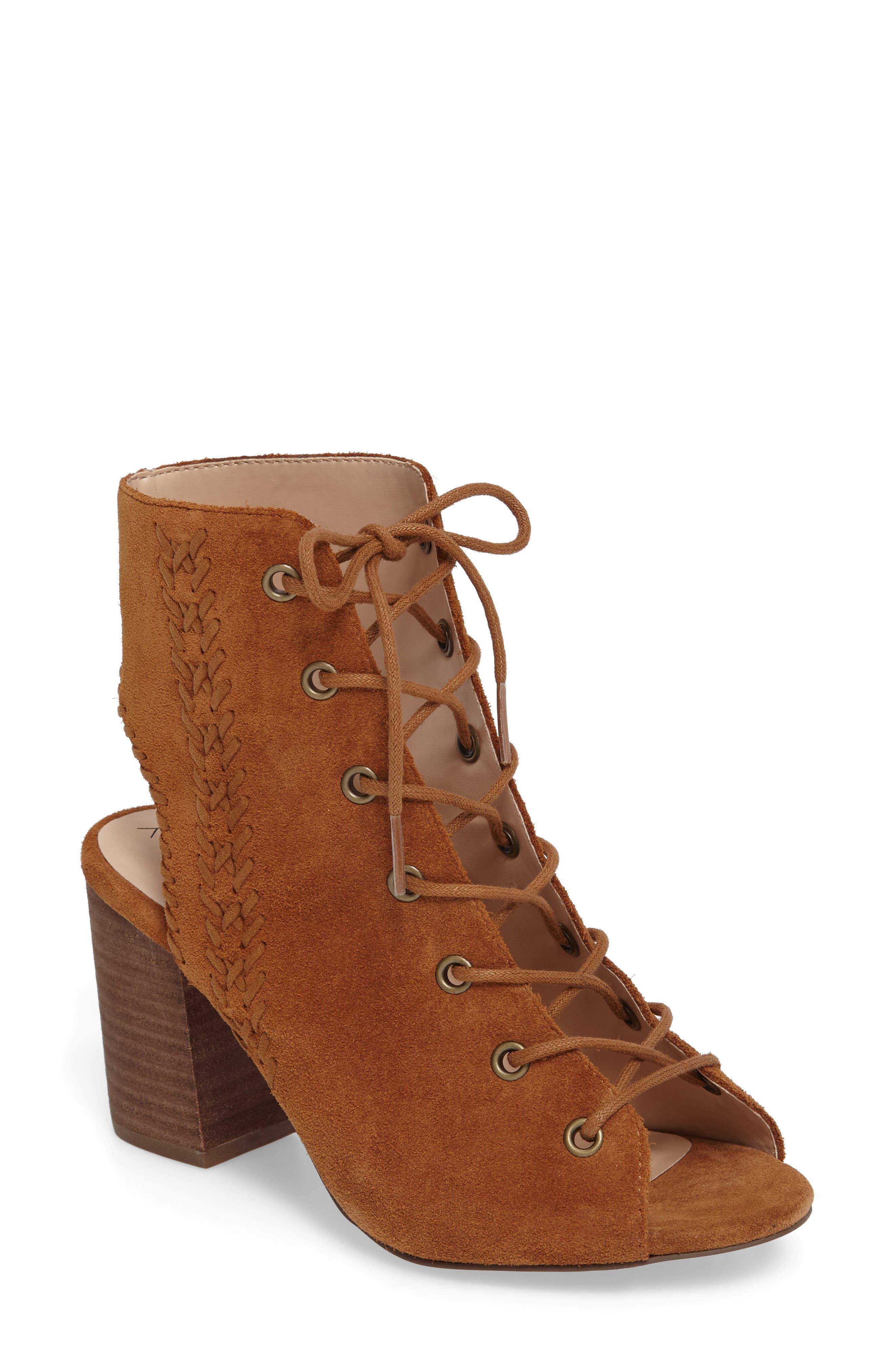 Rohan Lace-Up Bootie Sandal,                             Main thumbnail 2, color,