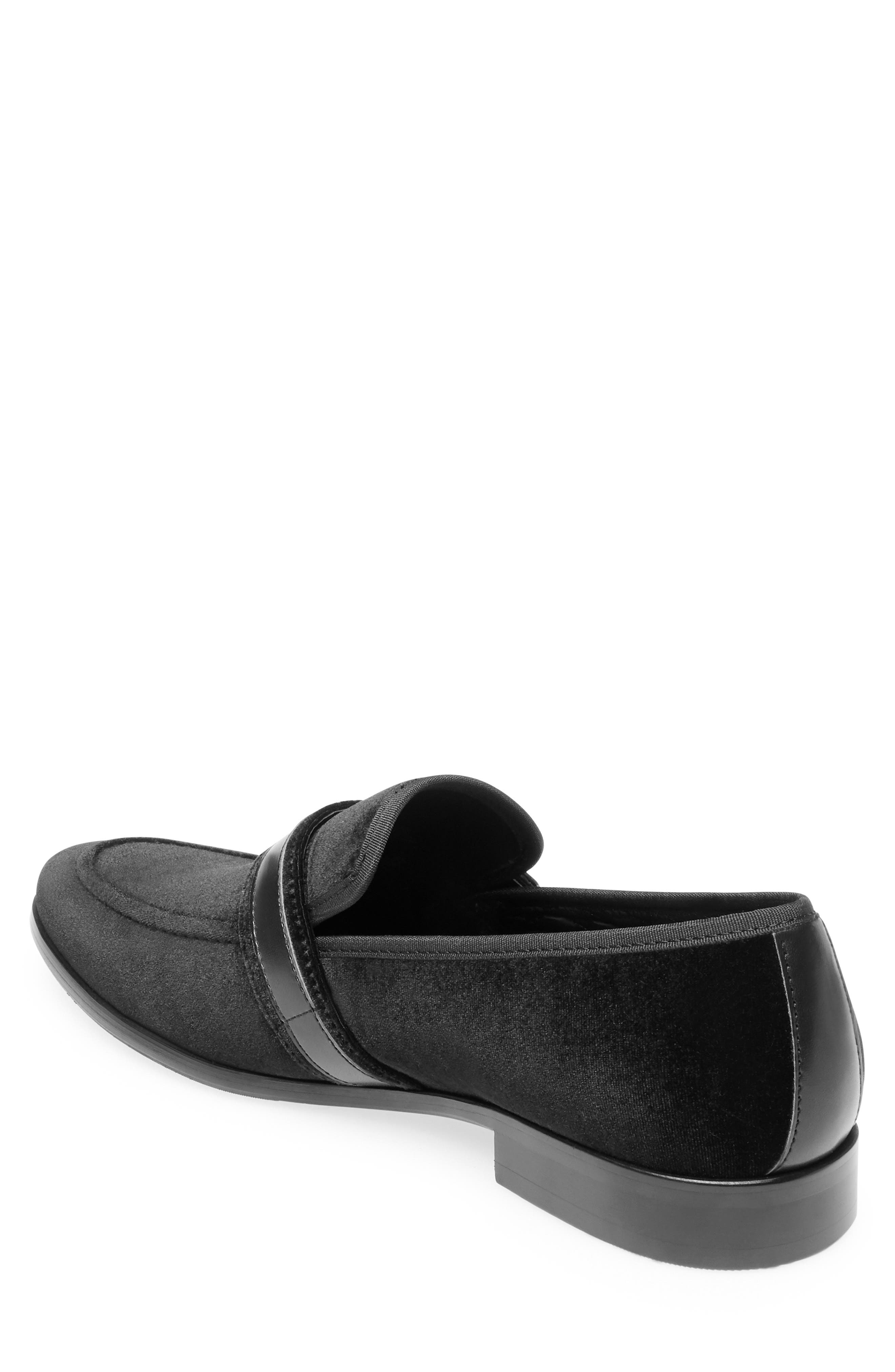 Macklin Bit Loafer,                             Alternate thumbnail 2, color,                             BLACK FABRIC