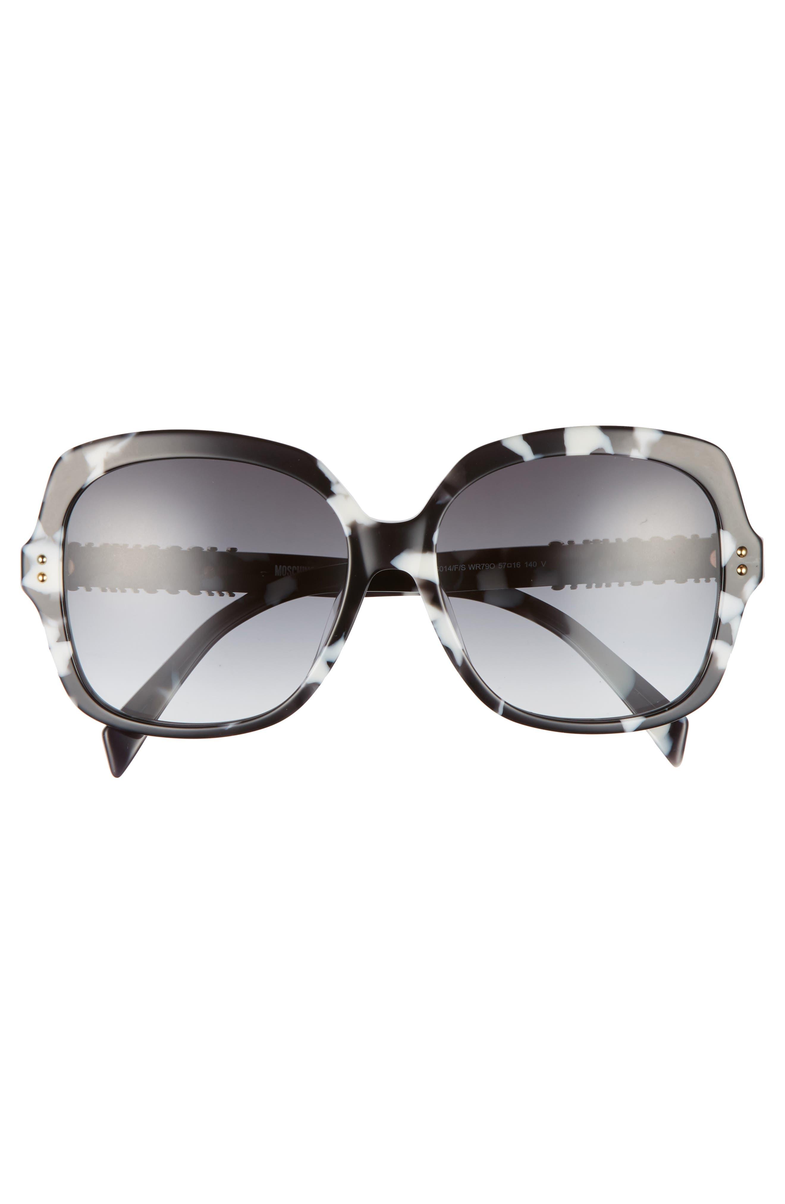 57mm Oversized Polarized Sunglasses,                             Alternate thumbnail 10, color,