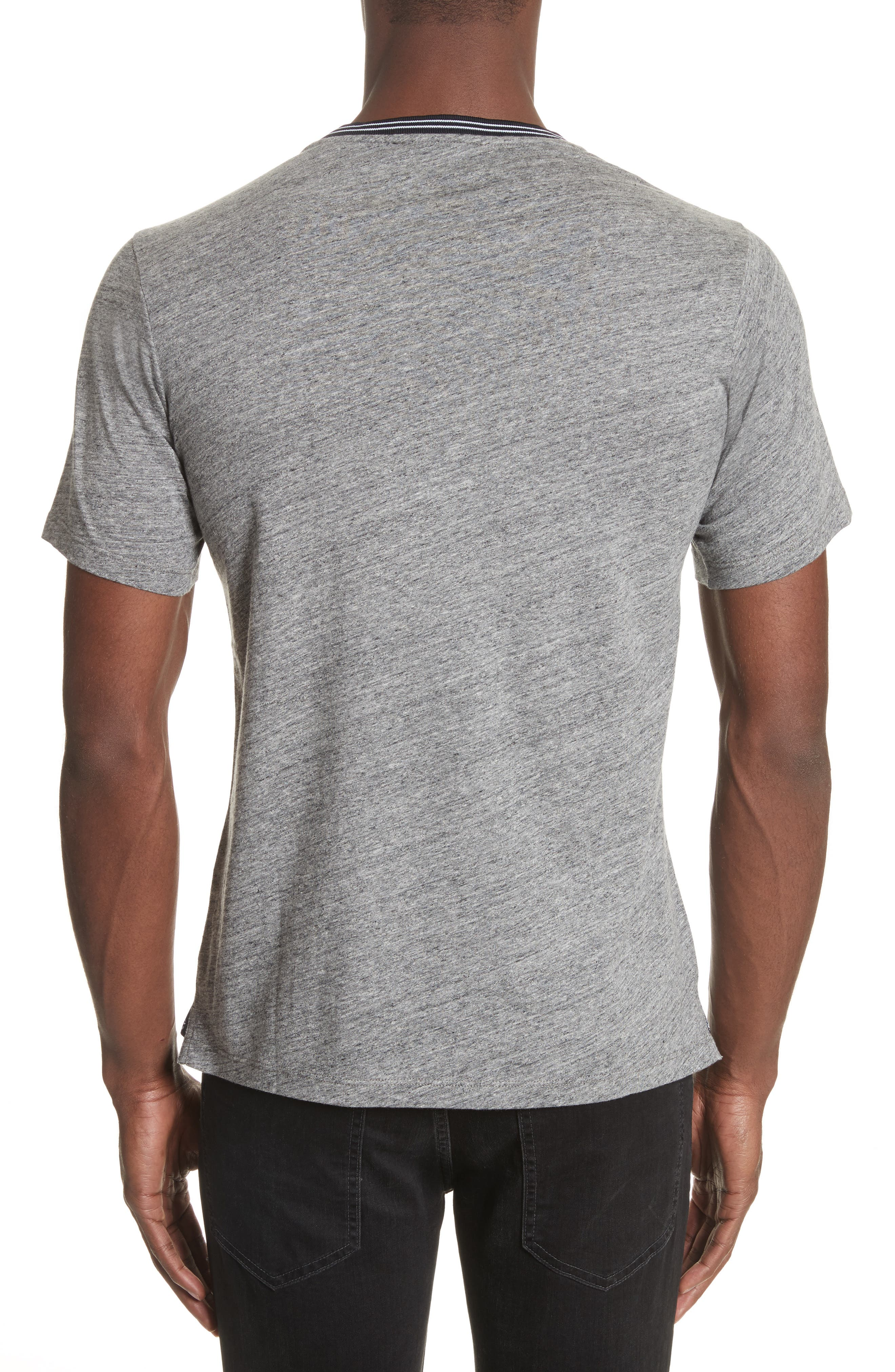 Ribbed Contrast T-Shirt,                             Alternate thumbnail 2, color,