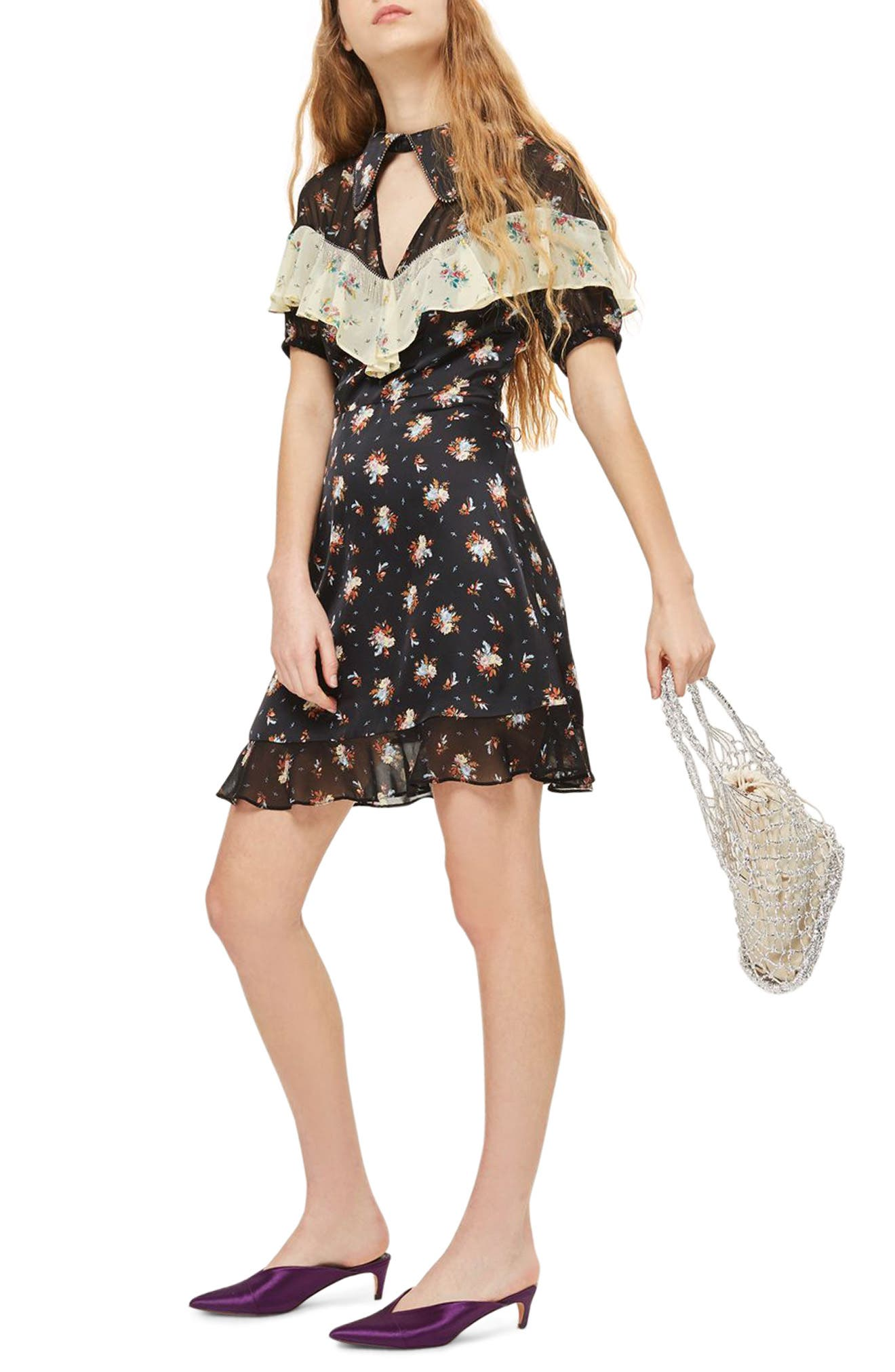 Rodeo Frill Western Skater Dress,                         Main,                         color, 001