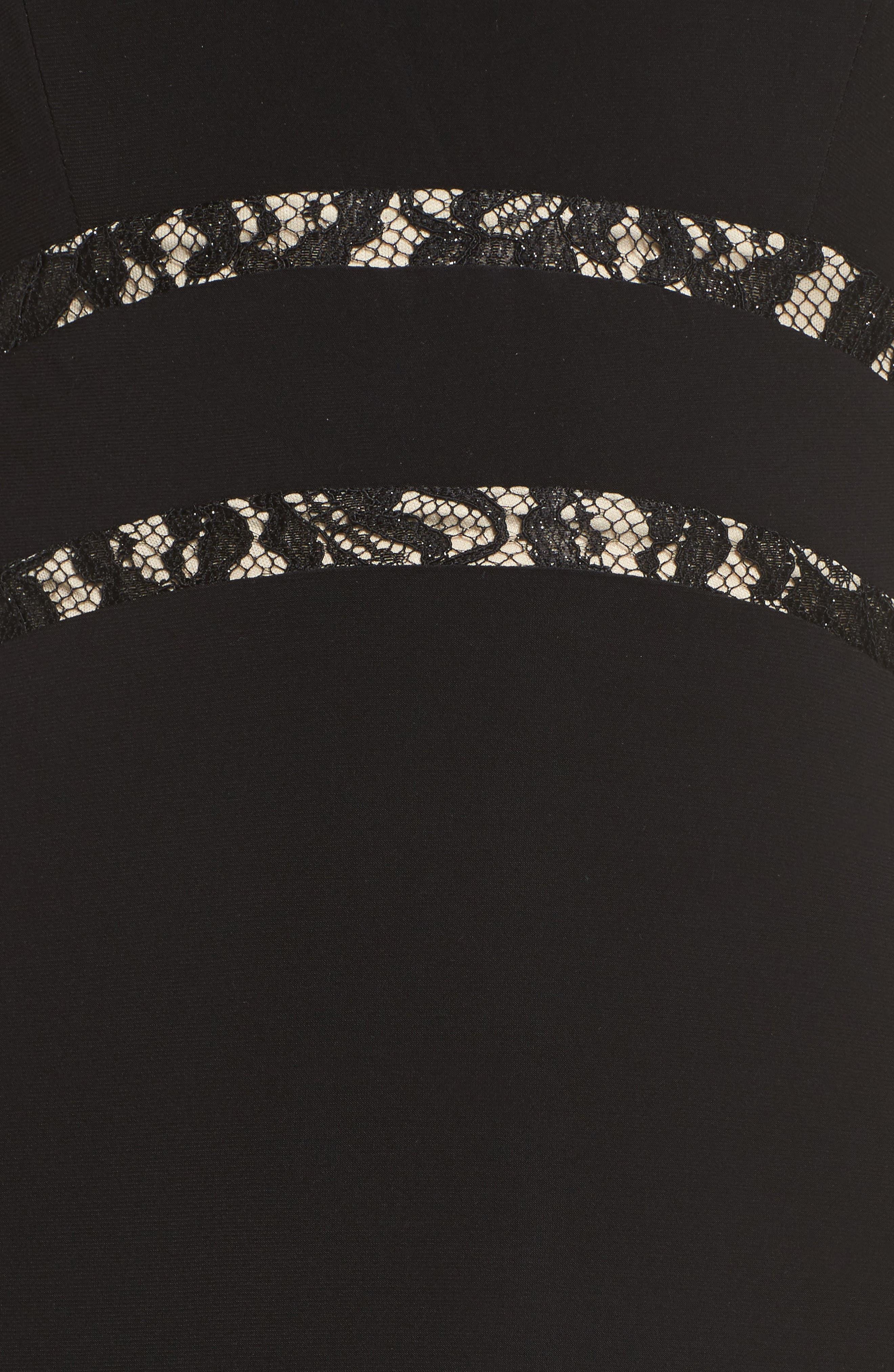 Ruffle Back Halter Gown,                             Alternate thumbnail 5, color,                             006