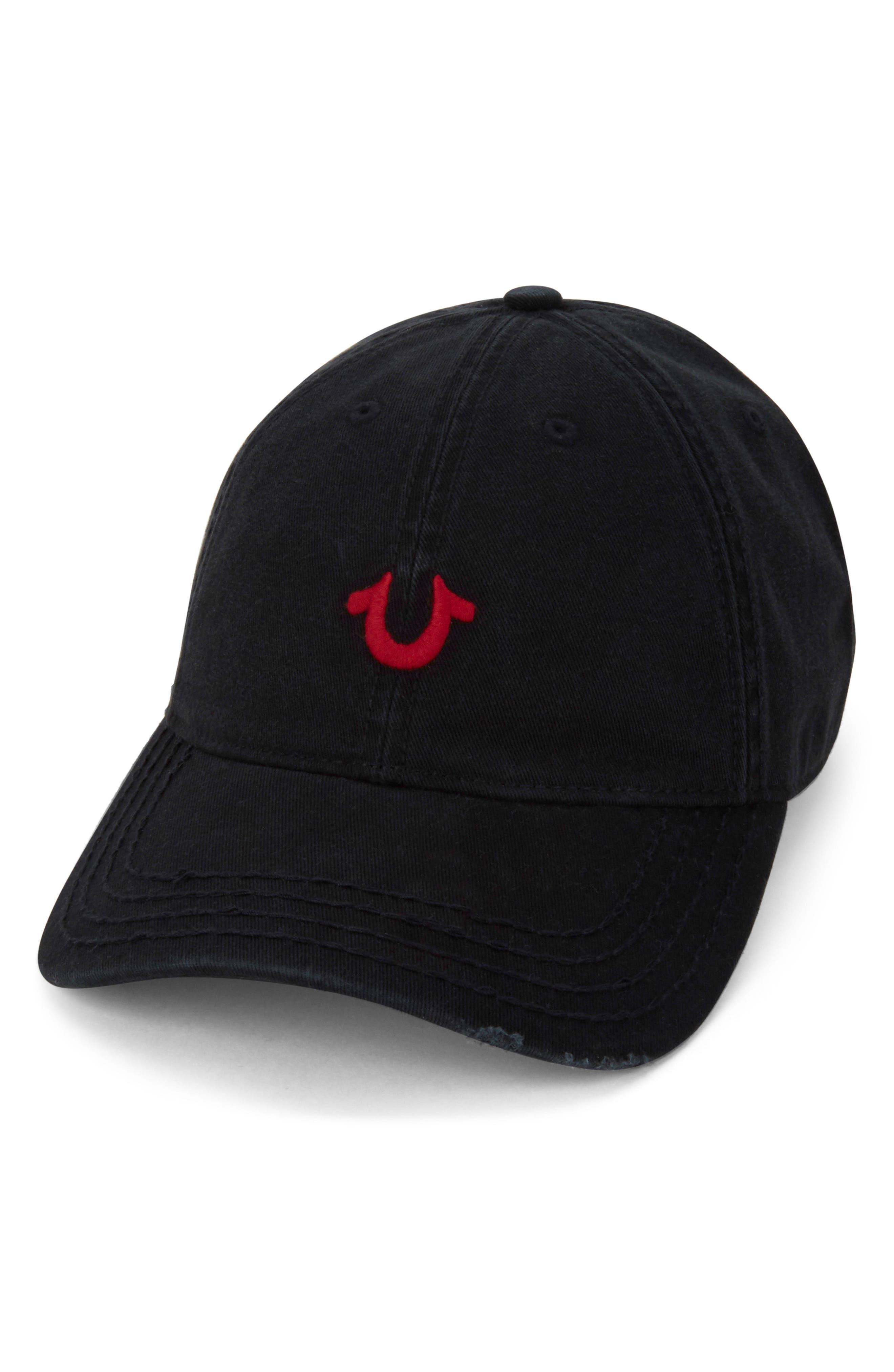 Baseball Cap,                         Main,                         color, BLACK
