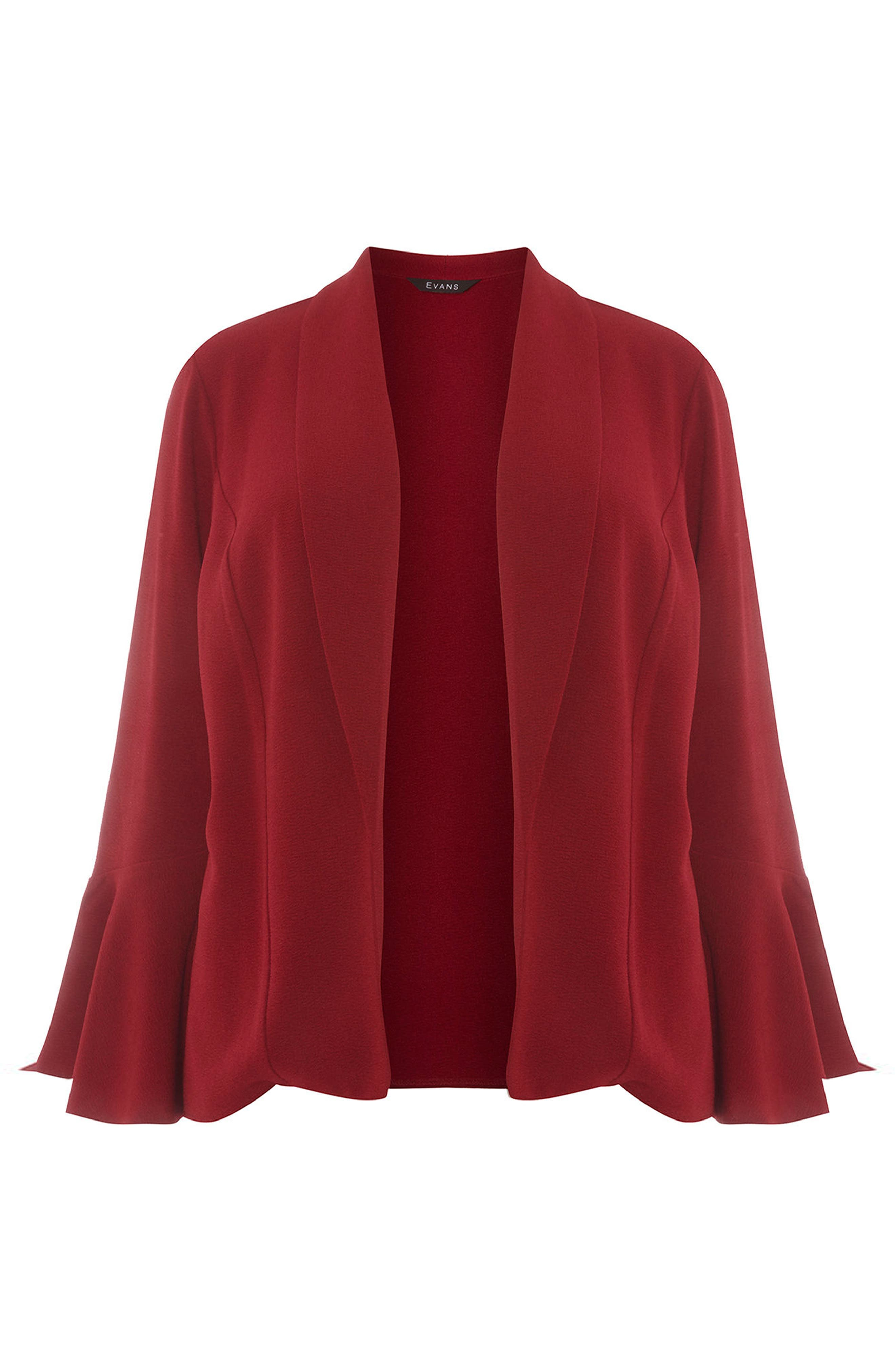 Bell Sleeve Crepe Jacket,                             Alternate thumbnail 5, color,                             600