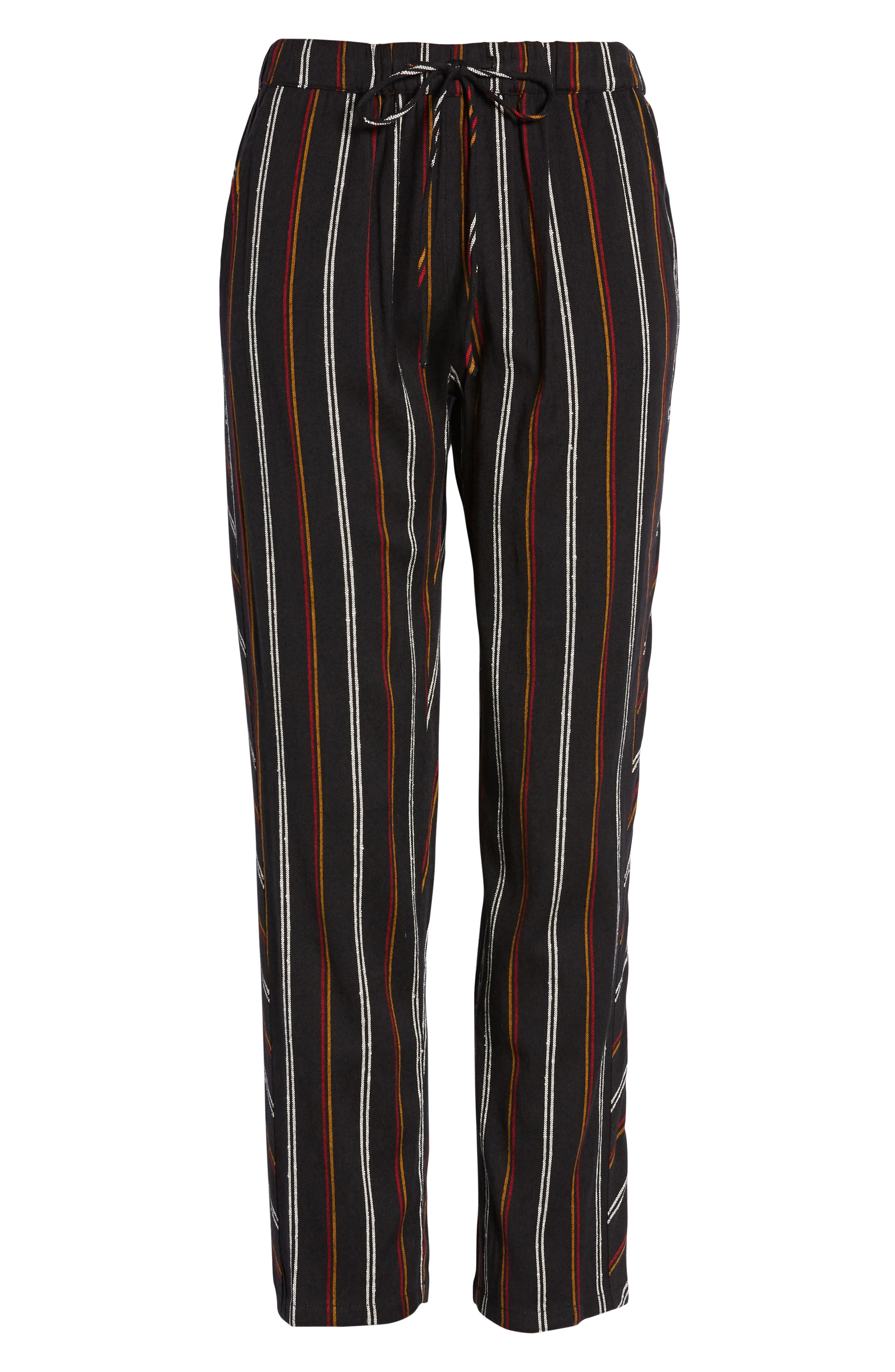 So Pro Pinstripe Pants,                             Alternate thumbnail 4, color,                             BLACK