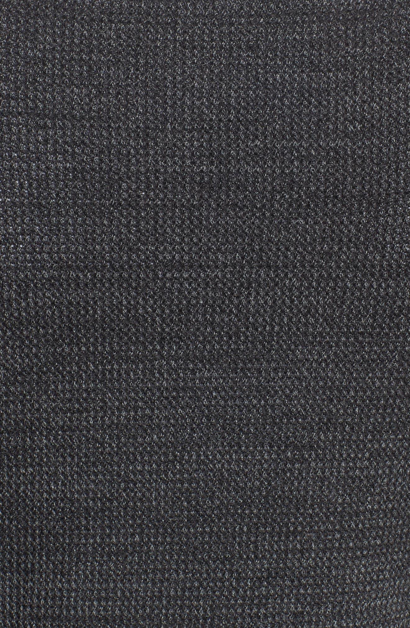 Tech Sweater Baseball Jacket,                             Alternate thumbnail 5, color,                             BLACK OXIDE SPACEDYE