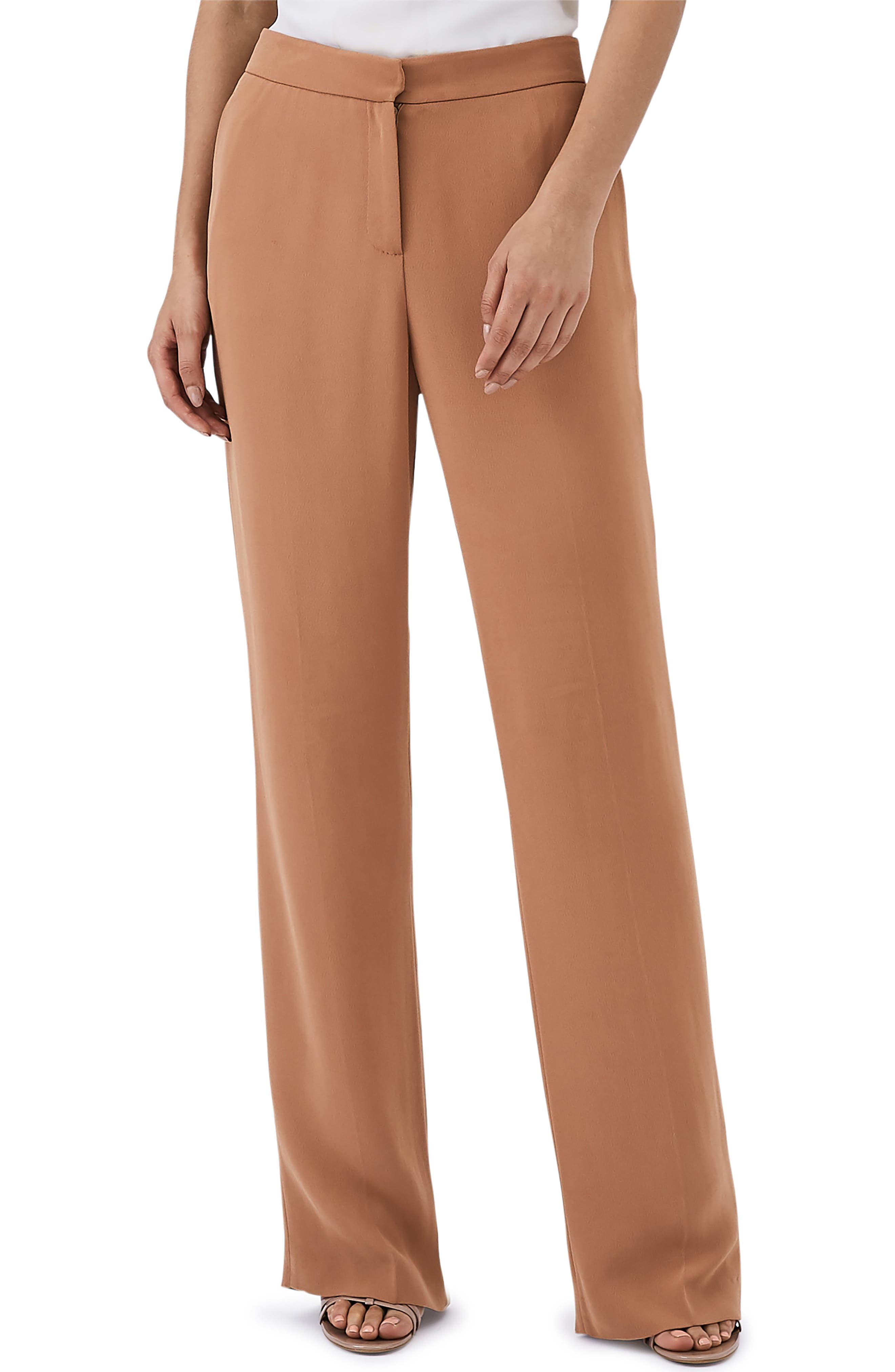 Nuria Wide Leg Trosuers,                         Main,                         color, RUST