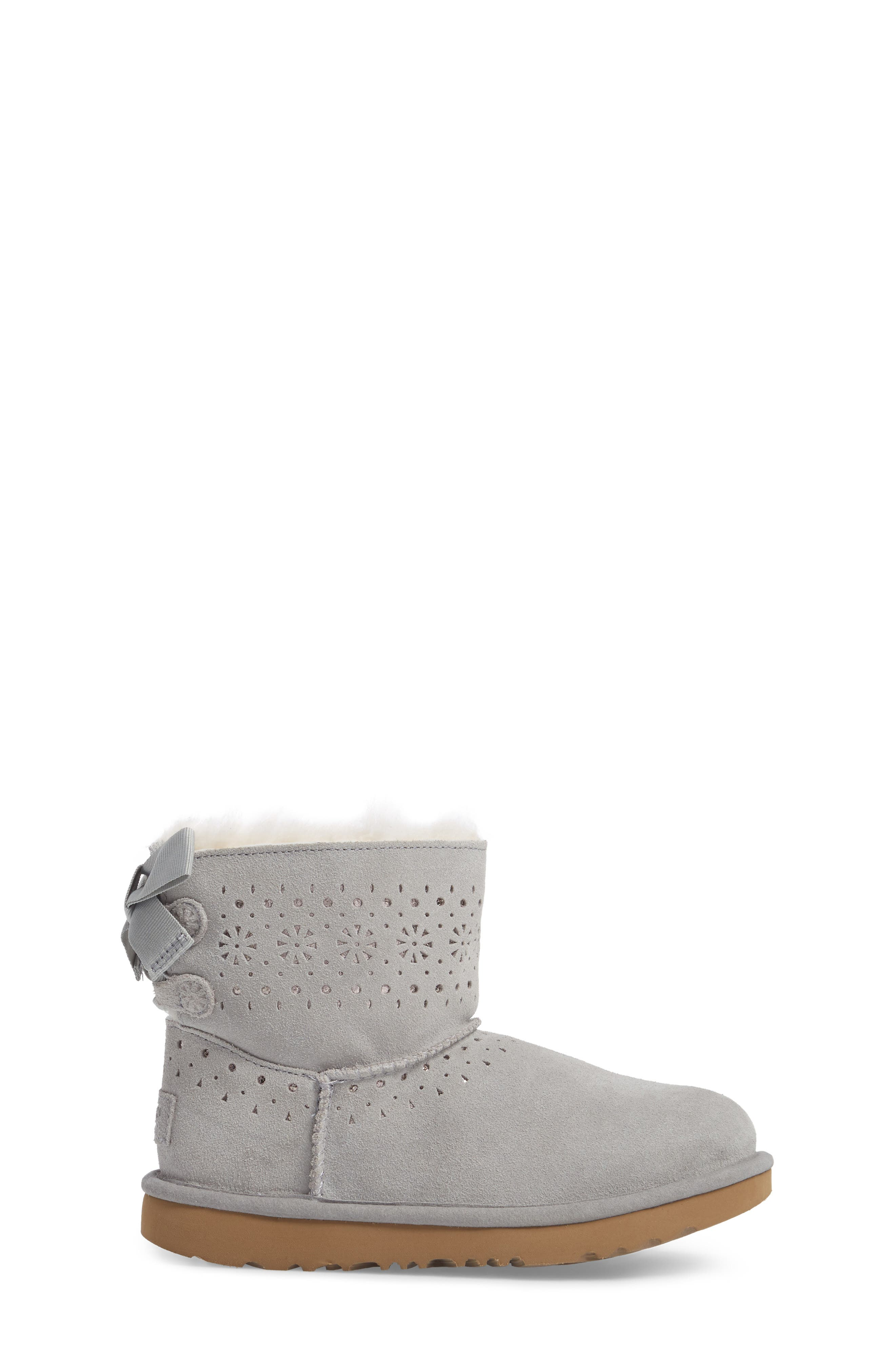 UGG<SUP>®</SUP>,                             Dae Perforated Tie Back Boot,                             Alternate thumbnail 3, color,                             024
