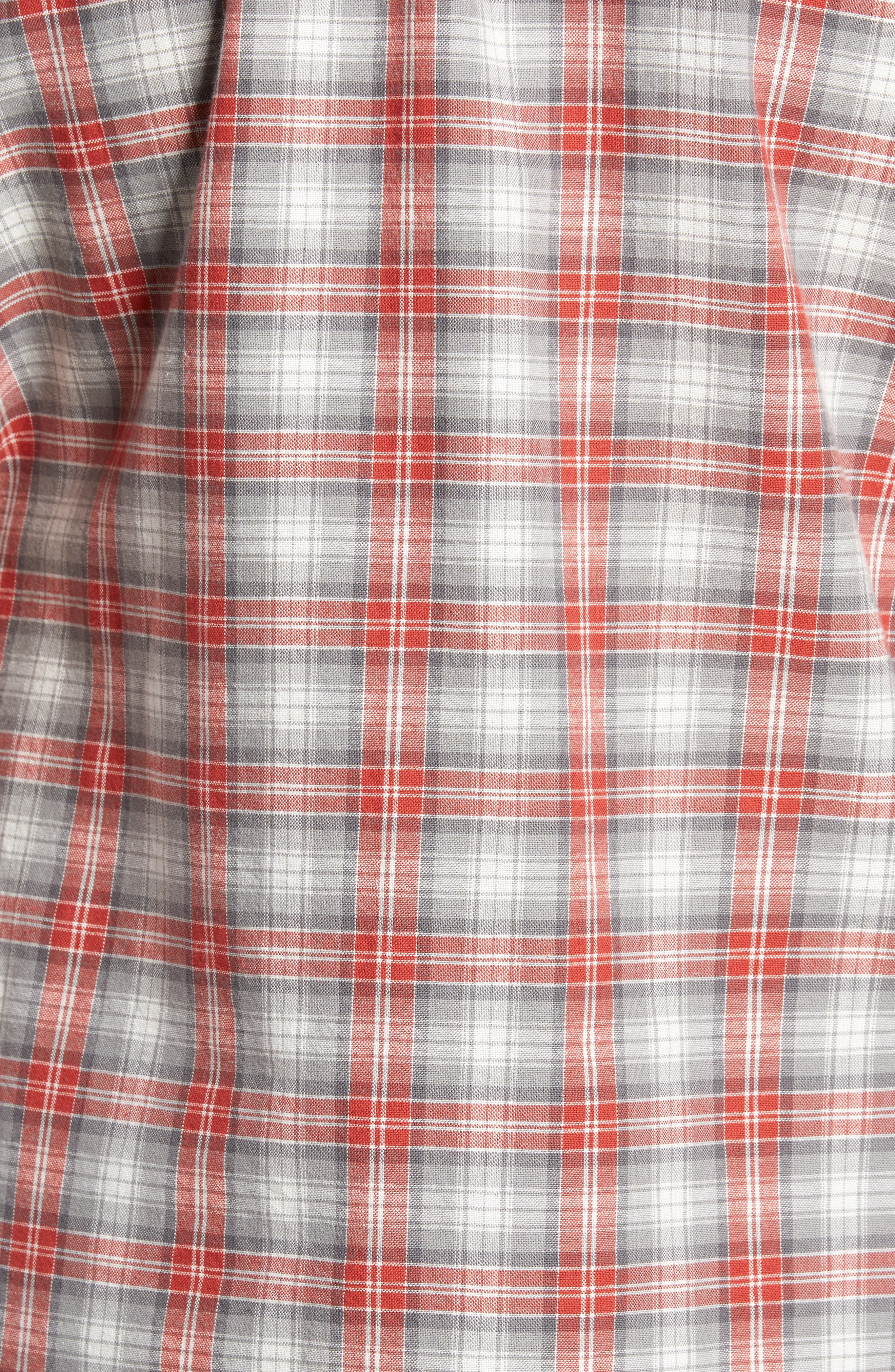 Voyager Plaid Sport Shirt,                             Alternate thumbnail 9, color,