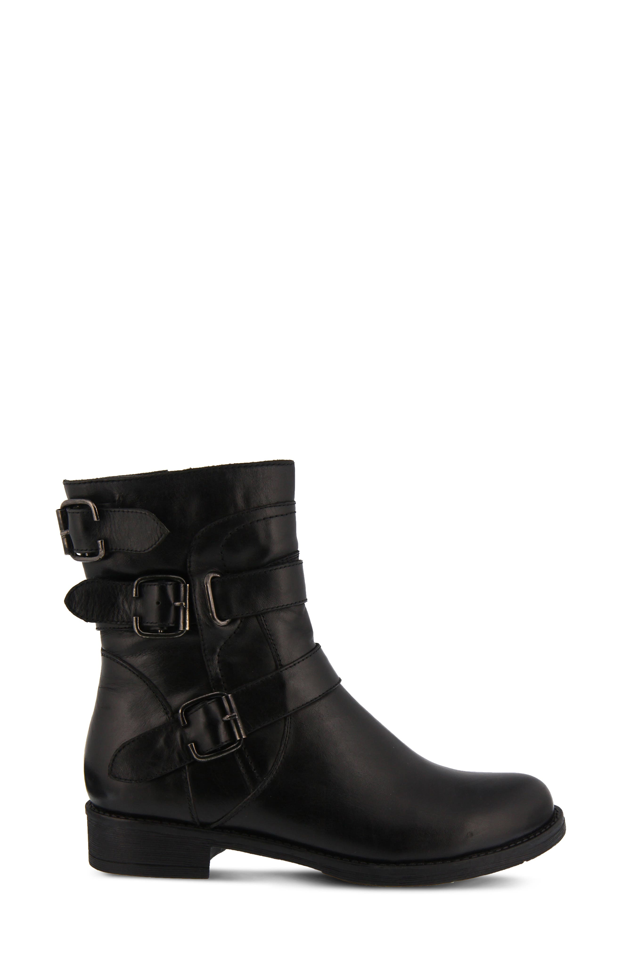 Diony Engineer Bootie,                             Alternate thumbnail 3, color,                             BLACK LEATHER