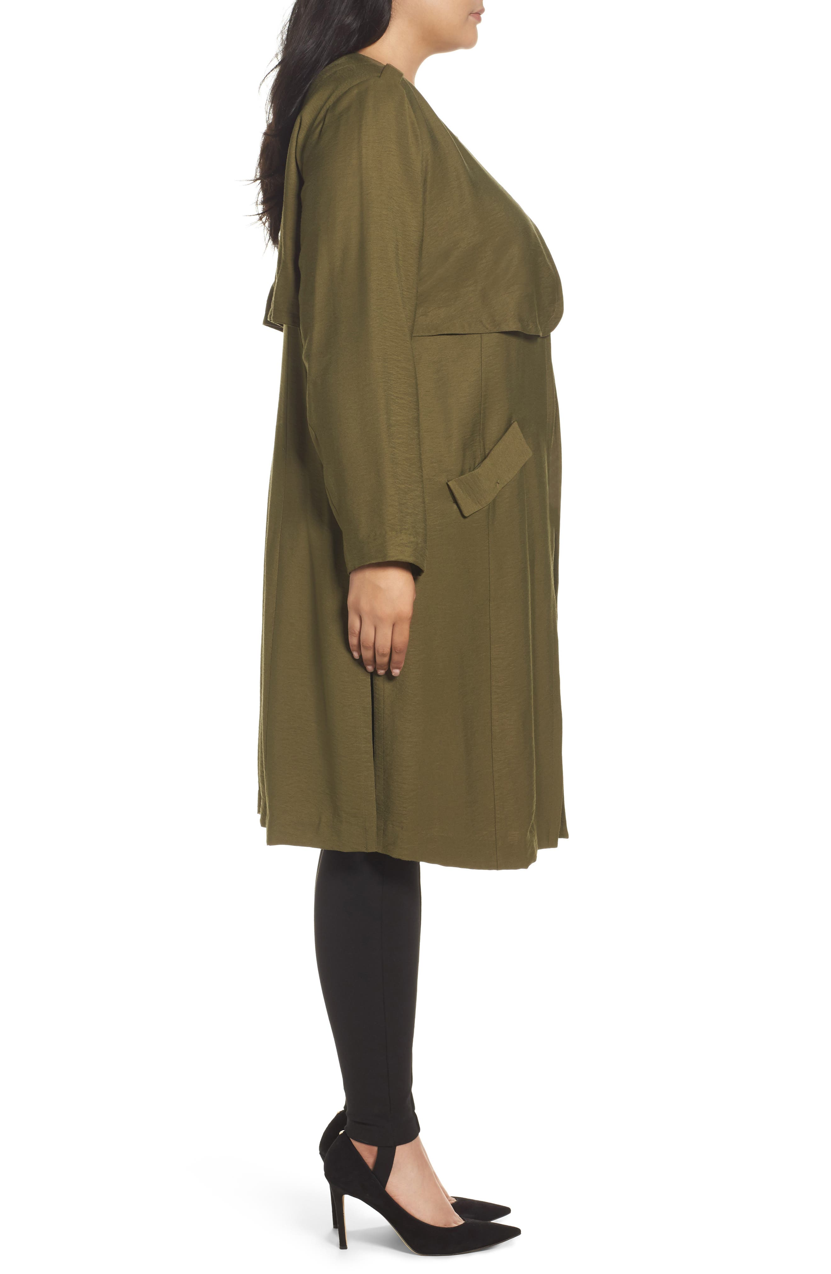 Long Open Front Trench Coat,                             Alternate thumbnail 11, color,