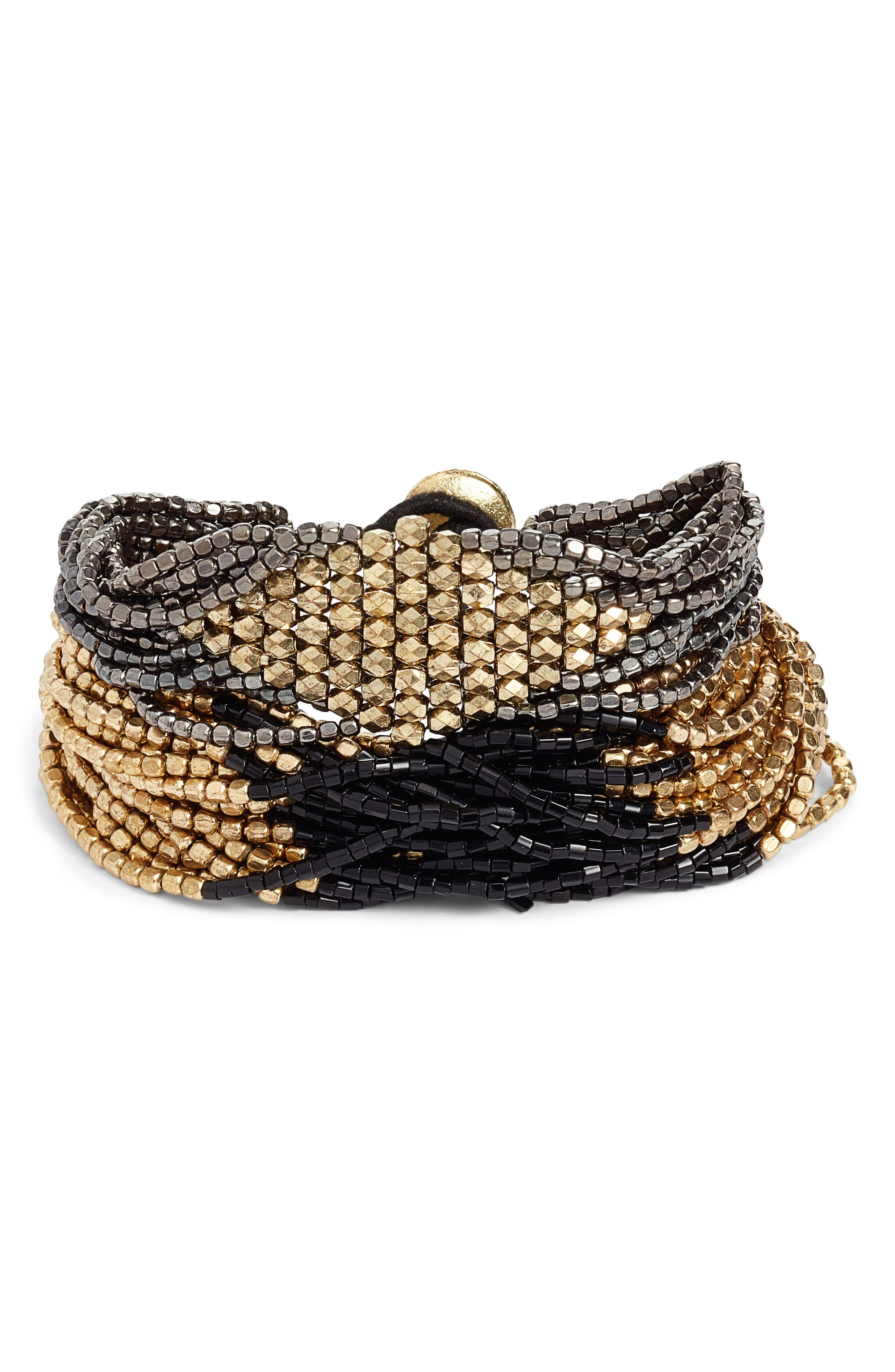 Set of 2 Beaded Bracelets,                         Main,                         color, 710