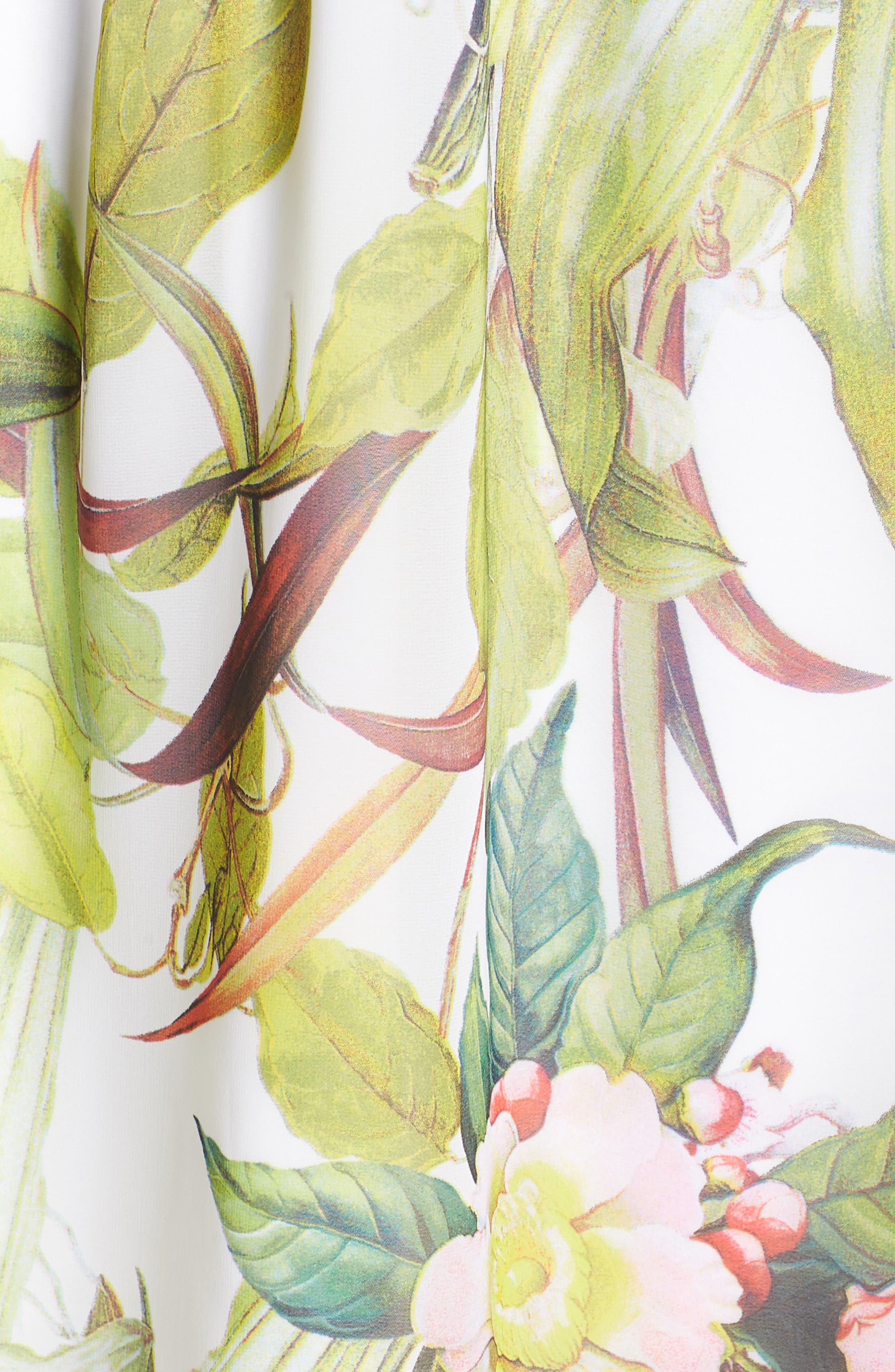 Adrianne Papell Tahitian Tropics Blouson Halter Dress,                             Alternate thumbnail 5, color,                             900