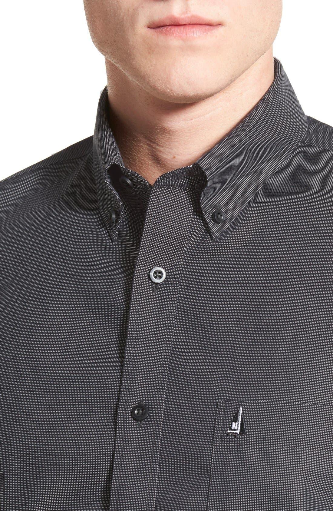 'Classic' Smartcare<sup>™</sup> Regular Fit Short Sleeve Cotton Sport Shirt,                             Alternate thumbnail 64, color,
