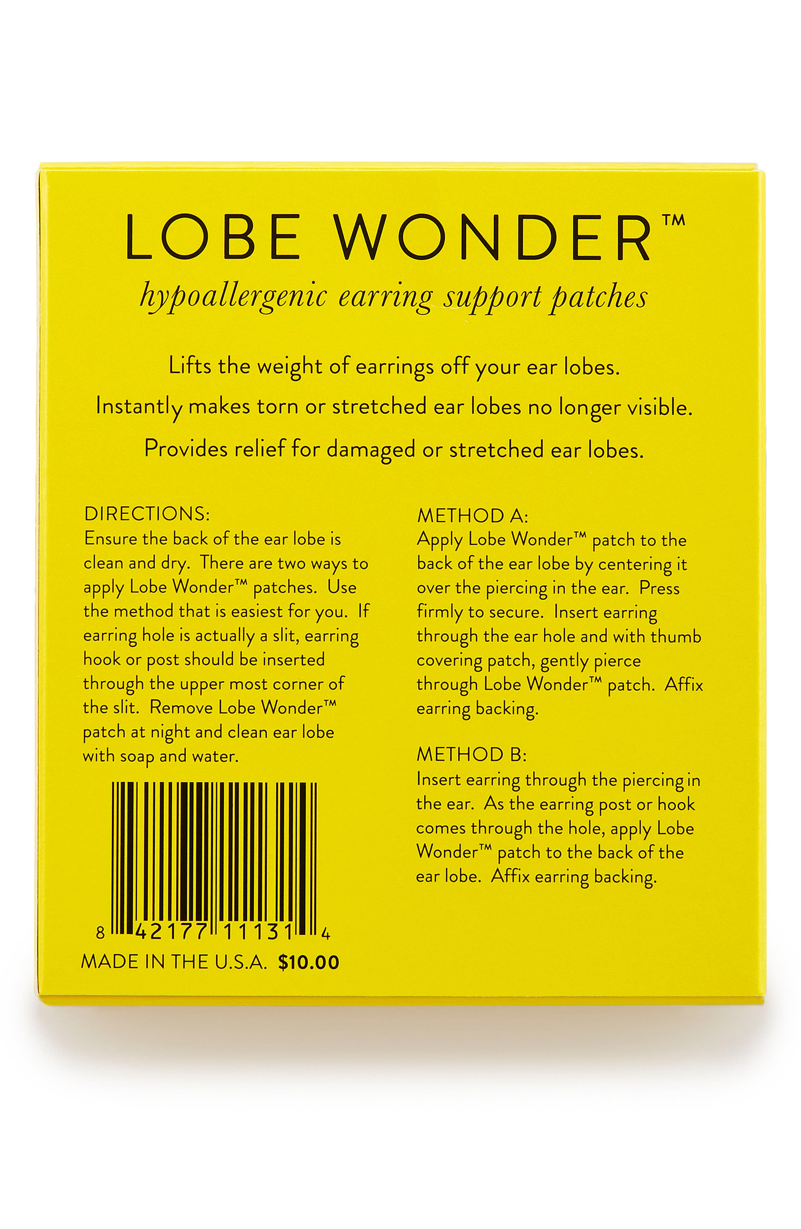 'Lobe Wonder<sup>™</sup>' Earring Support Patches,                             Alternate thumbnail 3, color,                             LOBE WONDER- CLEAR